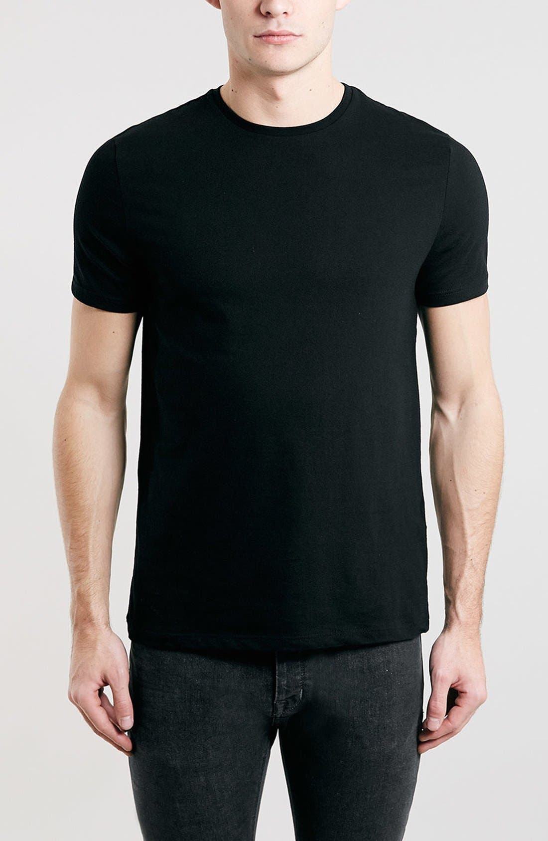 Alternate Image 1 Selected - Topman Slim Fit Crewneck T-Shirt