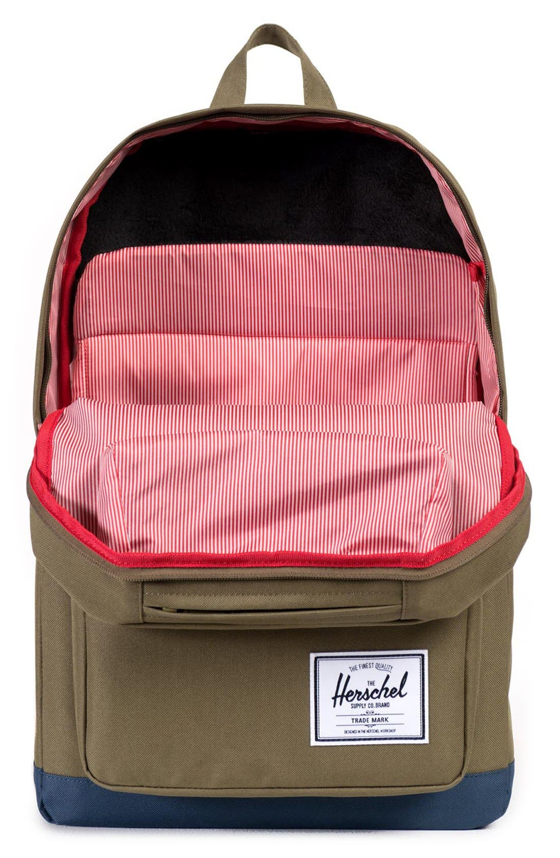 'Pop Quiz' Backpack,                             Alternate thumbnail 3, color,                             Army/ Navy