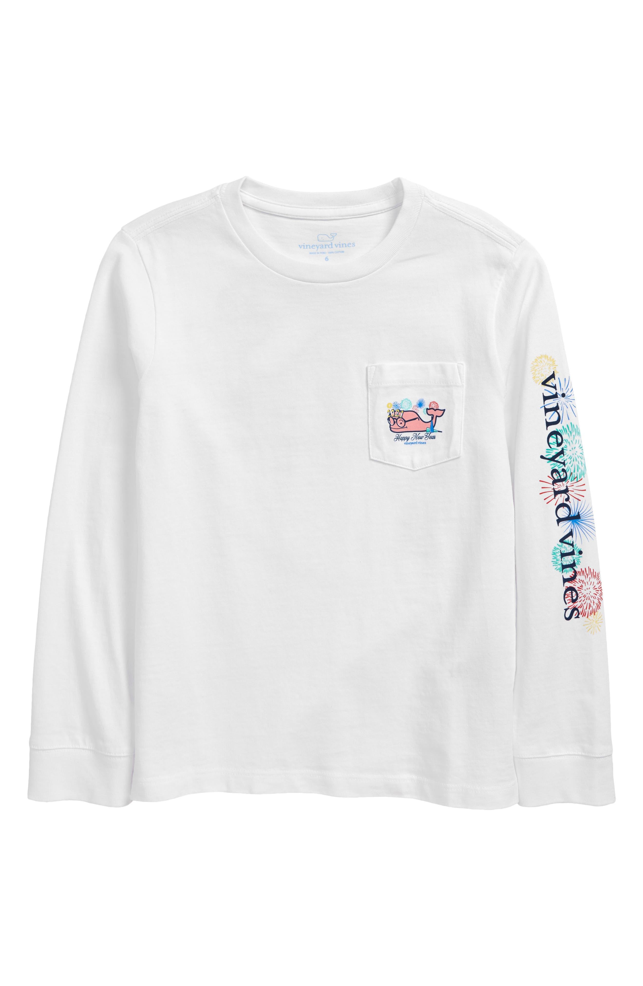 Lonsdale Kids Boys CrstLS Tee Childs Shirt Long Sleeve