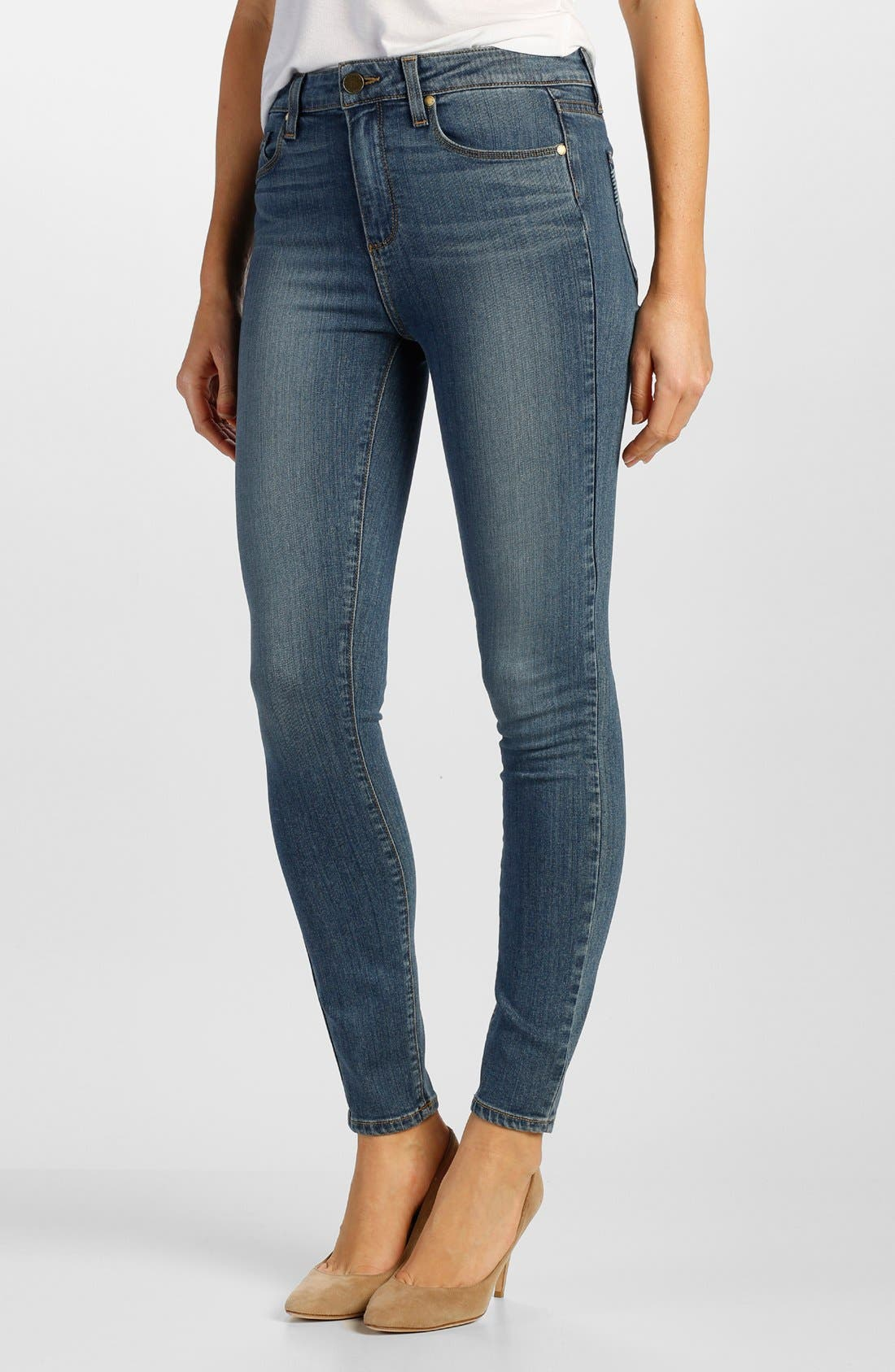 Alternate Image 1 Selected - Paige Denim 'Transcend - Hoxton' High Rise Ankle Skinny Jeans (Brett)