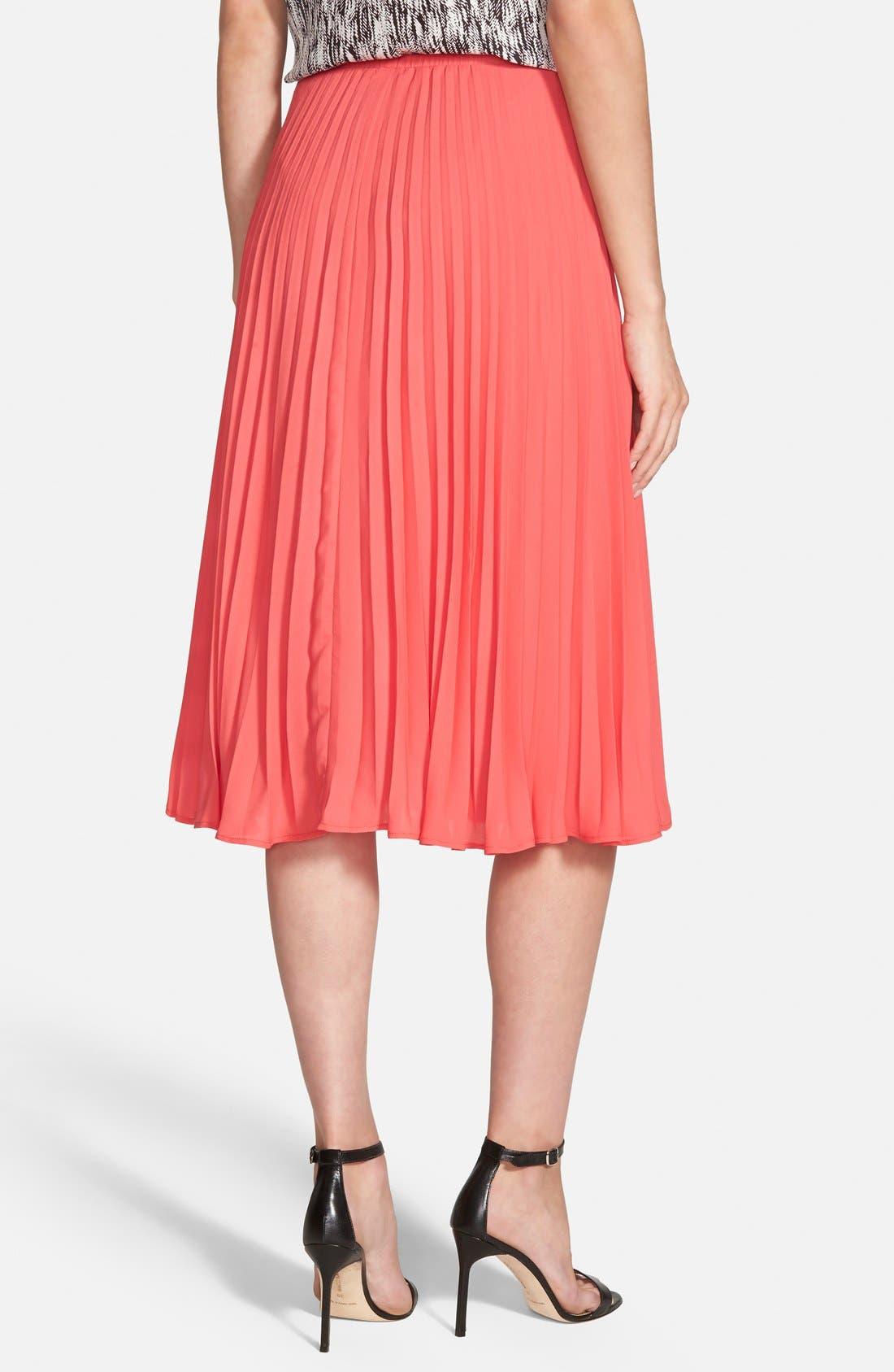 Alternate Image 2  - cupcakes and cashmere 'Santa Ana' Pleated Skirt