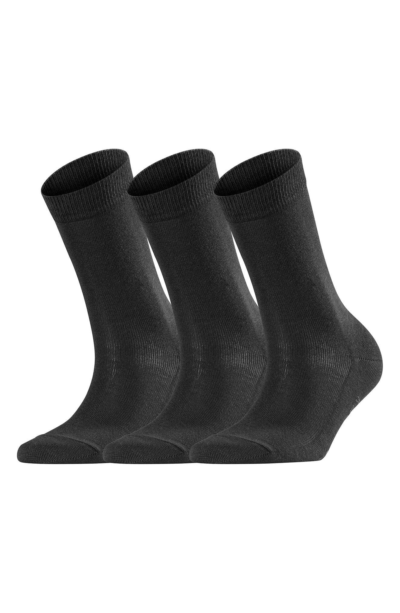 Falke Womens Finest No4 Camel and Silk Socks Dark Navy