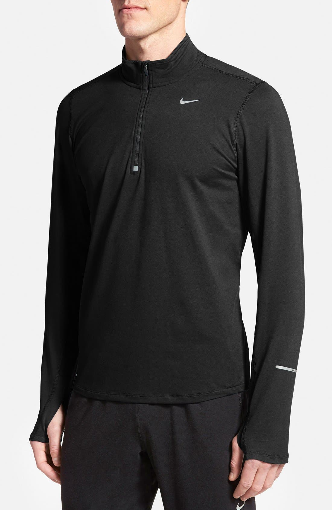 Alternate Image 1 Selected - Nike 'Element' Dri-FIT Half Zip Running Top