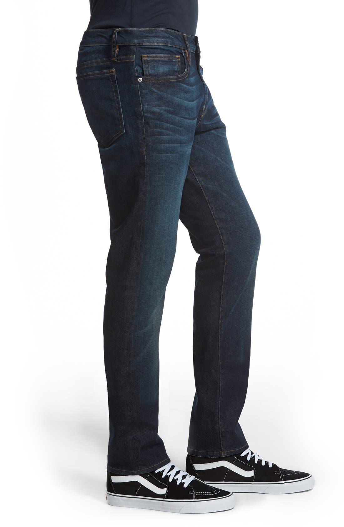 L'Homme Skinny Fit Jeans,                             Alternate thumbnail 3, color,                             Sierra