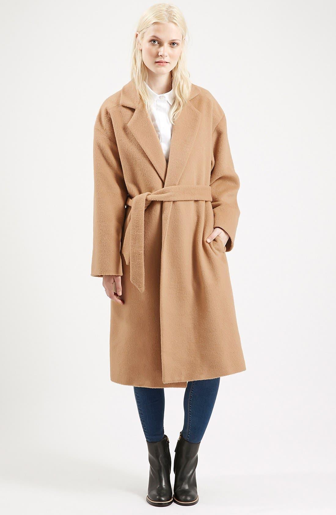 Alternate Image 1 Selected - Topshop Long Belted Coat