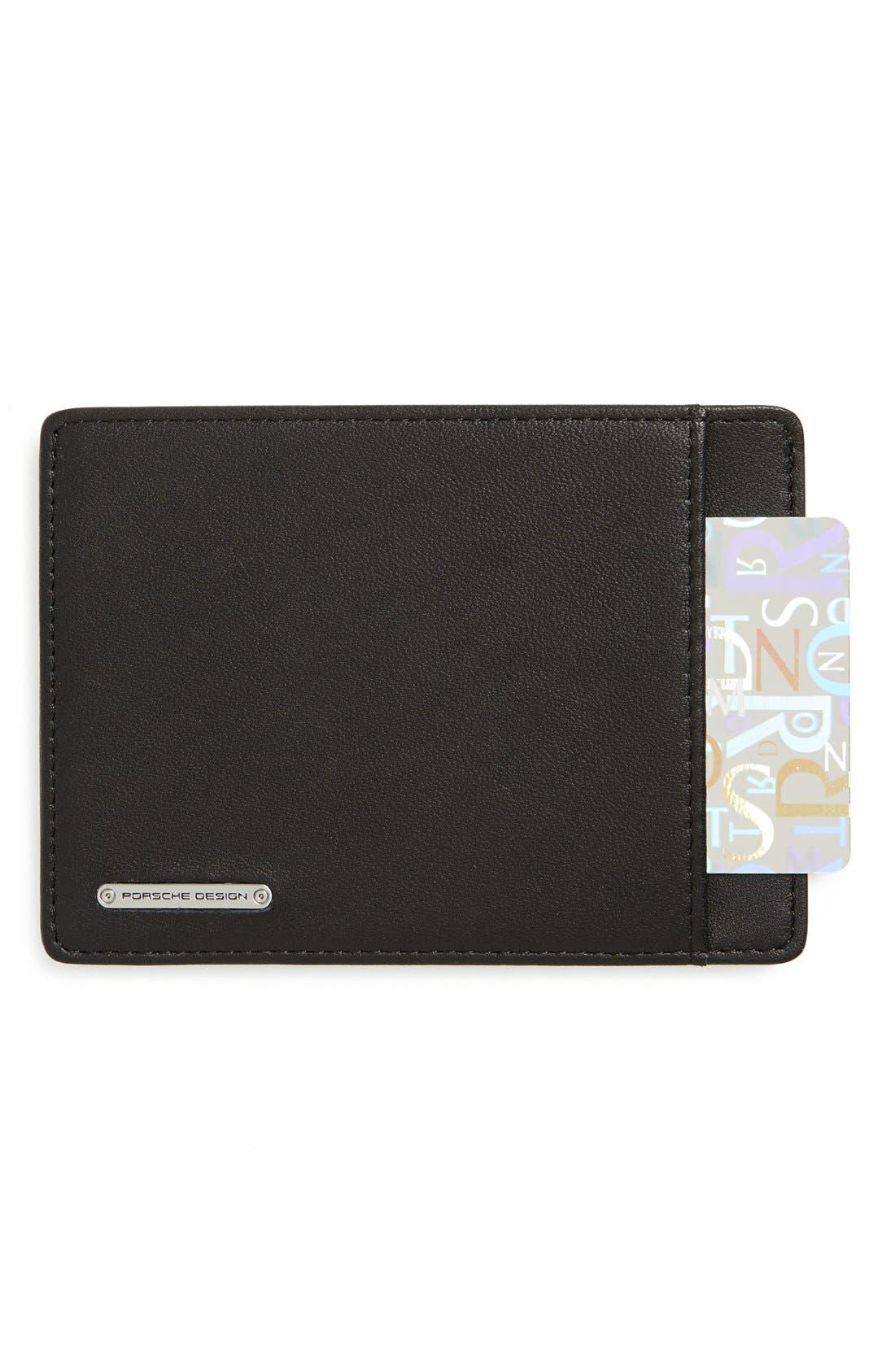 'CL2 2.0' Leather Card Holder,                         Main,                         color, Black
