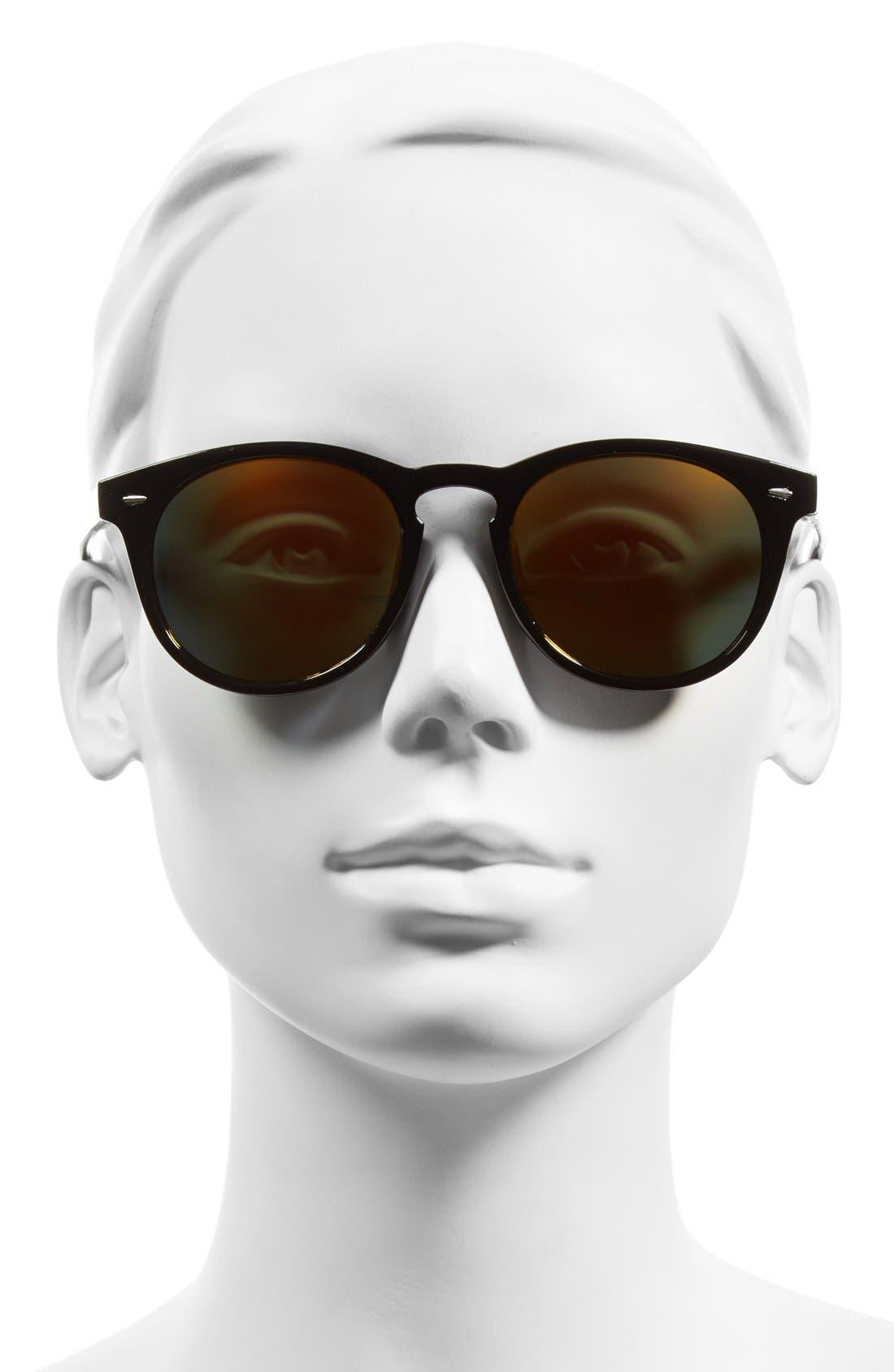 Alternate Image 2  - Sole Society 'Kate' 48mm Round Mirrored Sunglasses