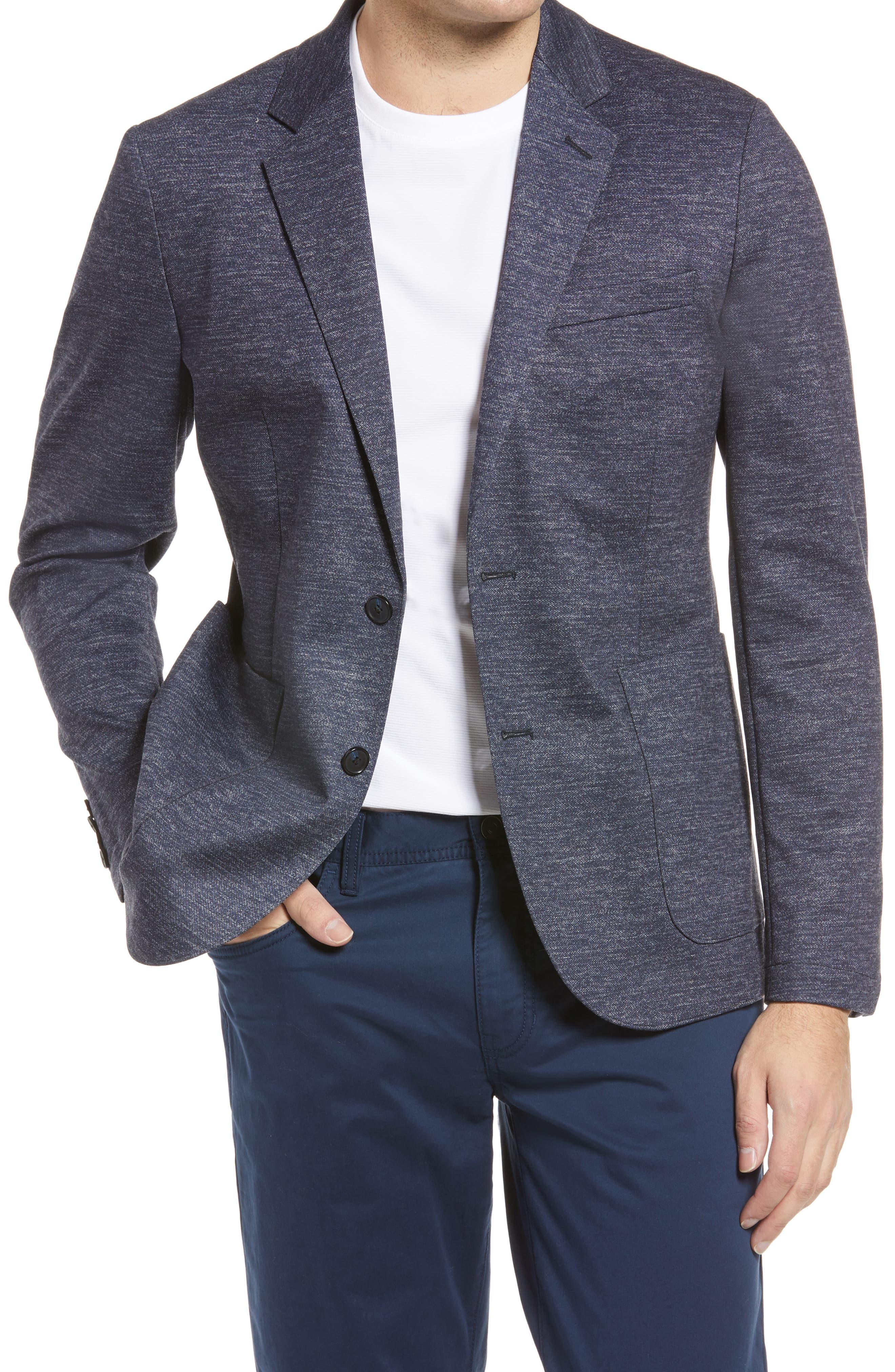 MultiColor Essentials Men/'s Knit Sport Coat Light Gray Size Large