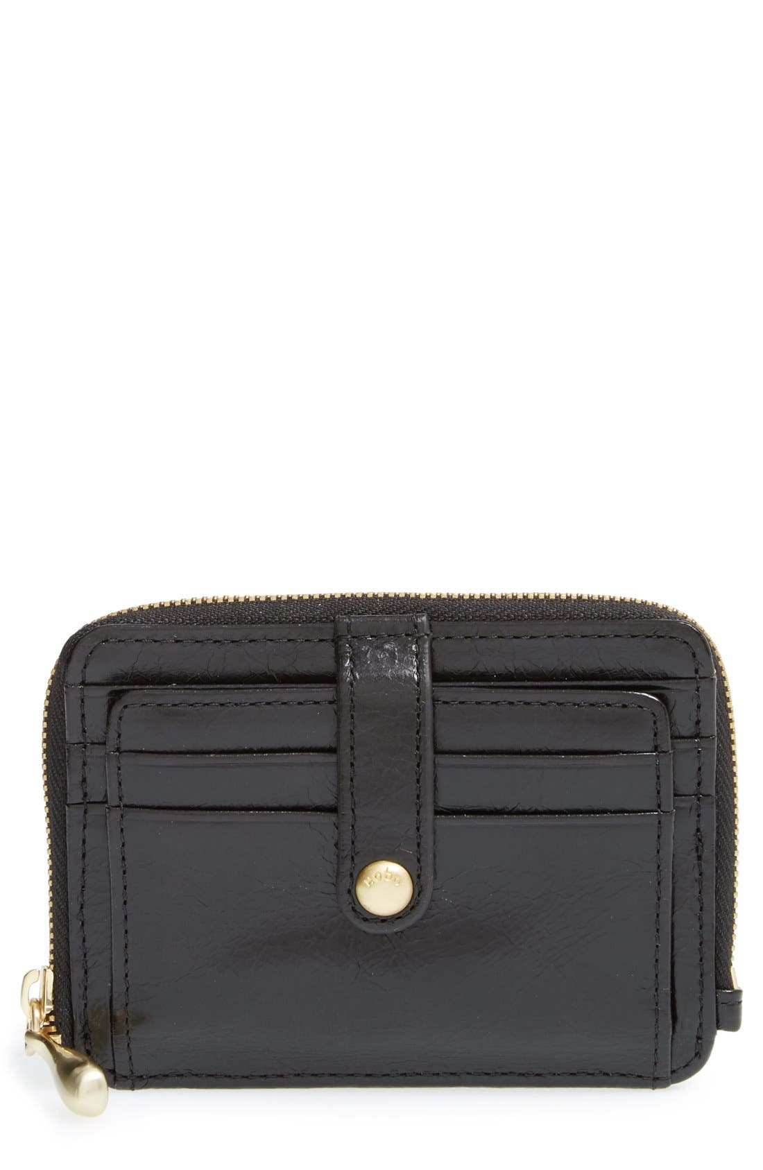 'Katya' Leather Wallet,                             Main thumbnail 1, color,                             Black