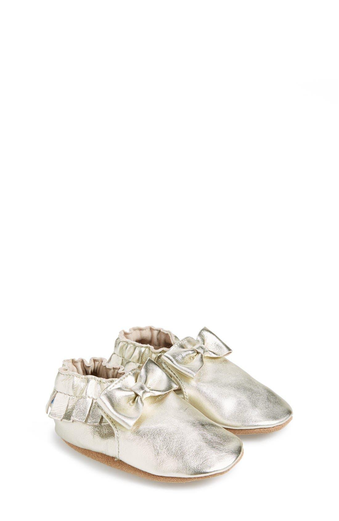 Robeez® 'Maggie Moccasin' Crib Shoe (Baby & Walker)
