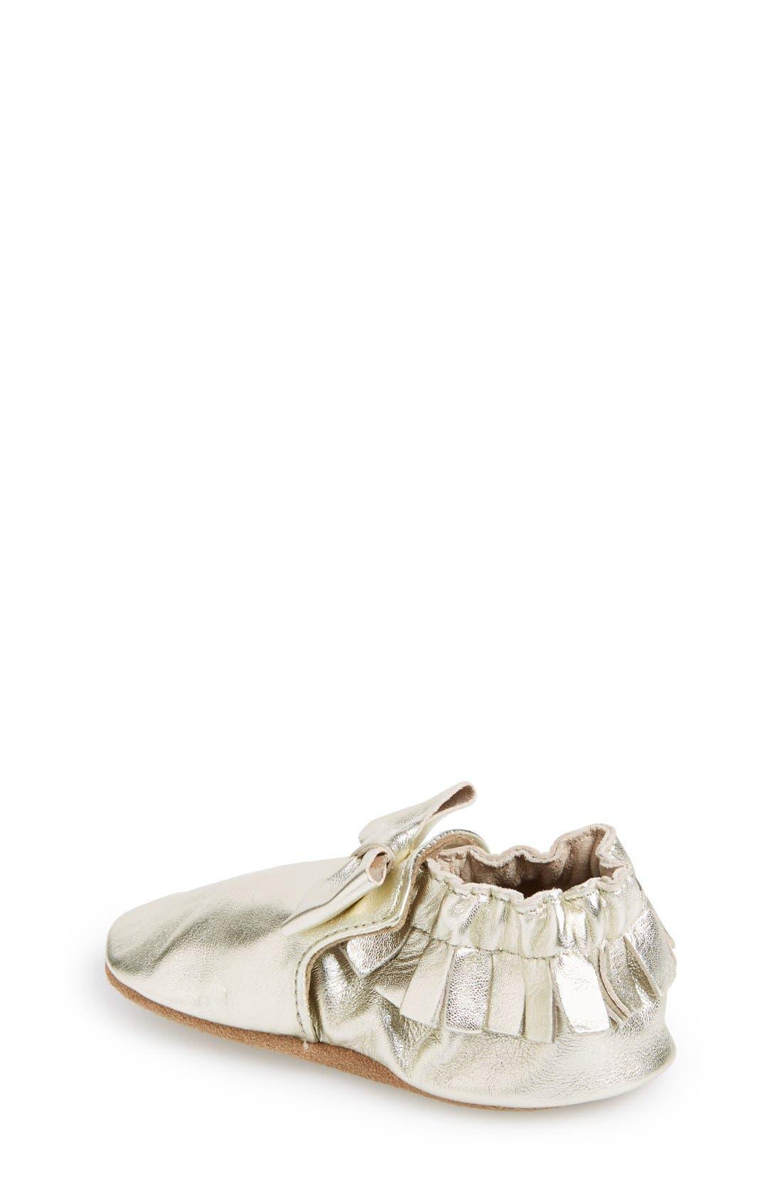 Alternate Image 2  - Robeez® 'Maggie Moccasin' Crib Shoe (Baby & Walker)