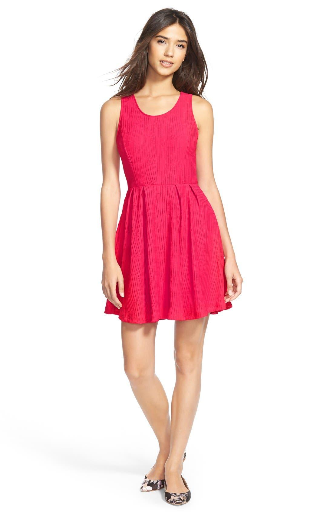 Main Image - Lush Knit Skater Dress