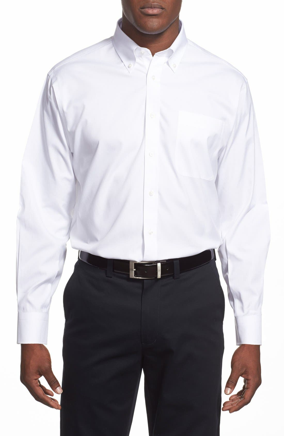 Smartcare<sup>™</sup> Classic Fit Pinpoint Dress Shirt,                         Main,                         color, White