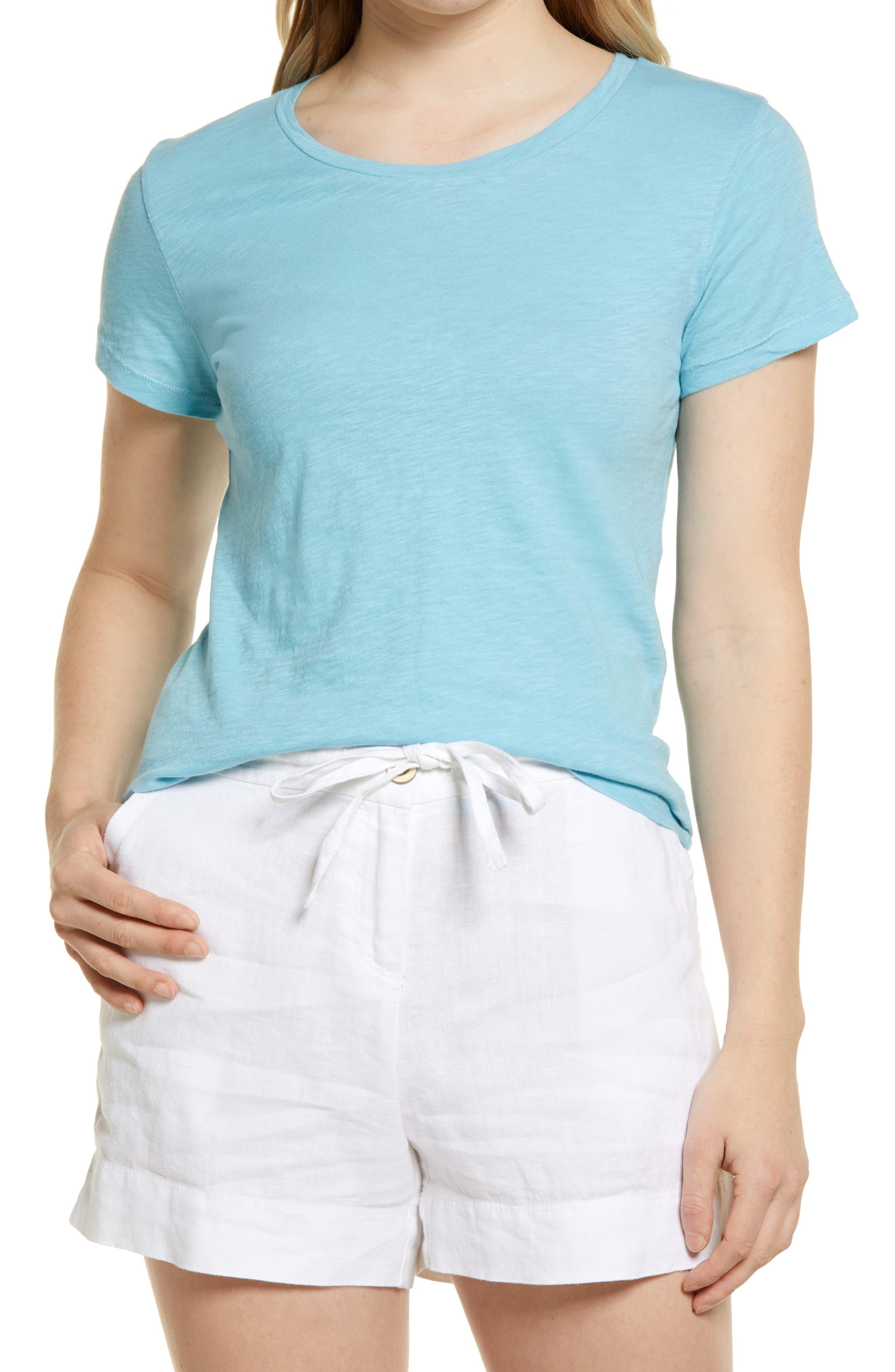 Centory T Shirts for Women Tie Dye V Neck Short Sleeve T-Shirt Loungewear Tee Tops