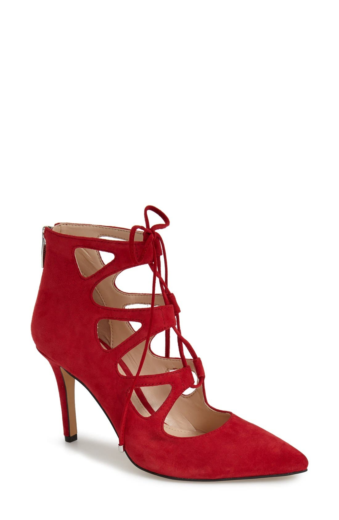'Bodell' Lace Up Pump,                             Main thumbnail 1, color,                             Love Affair Suede