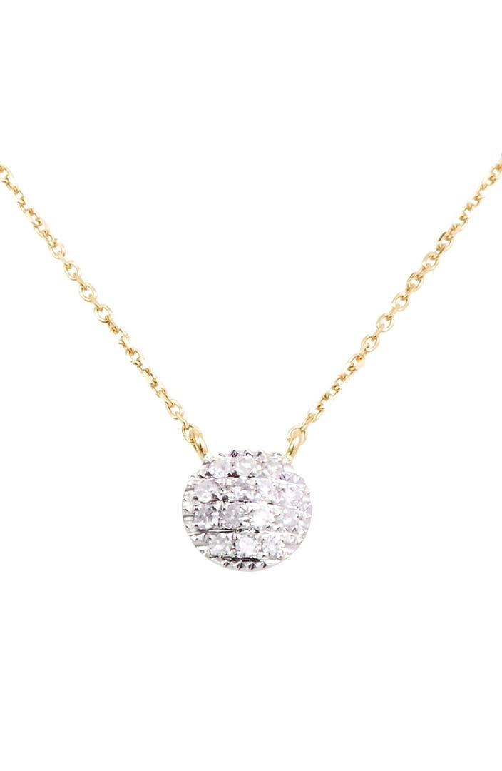 Dana rebecca designs 39 lauren joy 39 diamond disc pendant for Baby jewelry near me