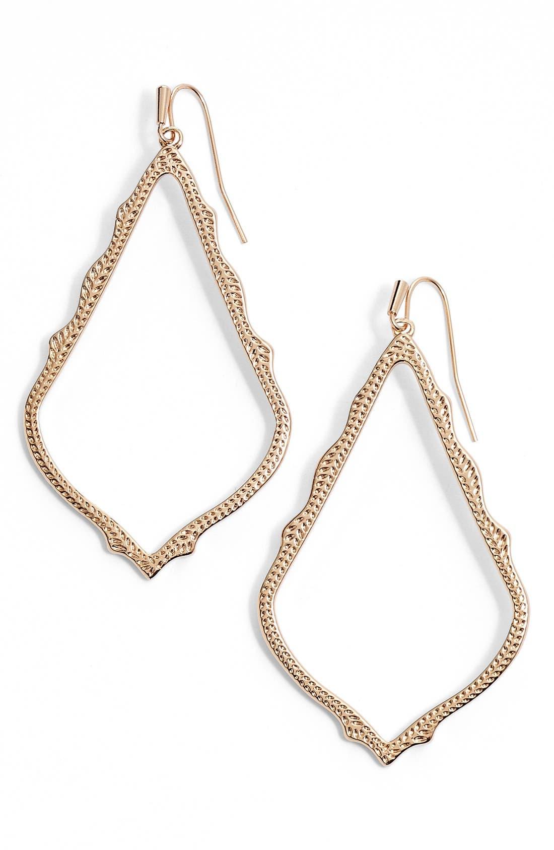 'Mystic Bazaar - Sophee' Drop Earrings,                             Main thumbnail 1, color,                             Rose Gold