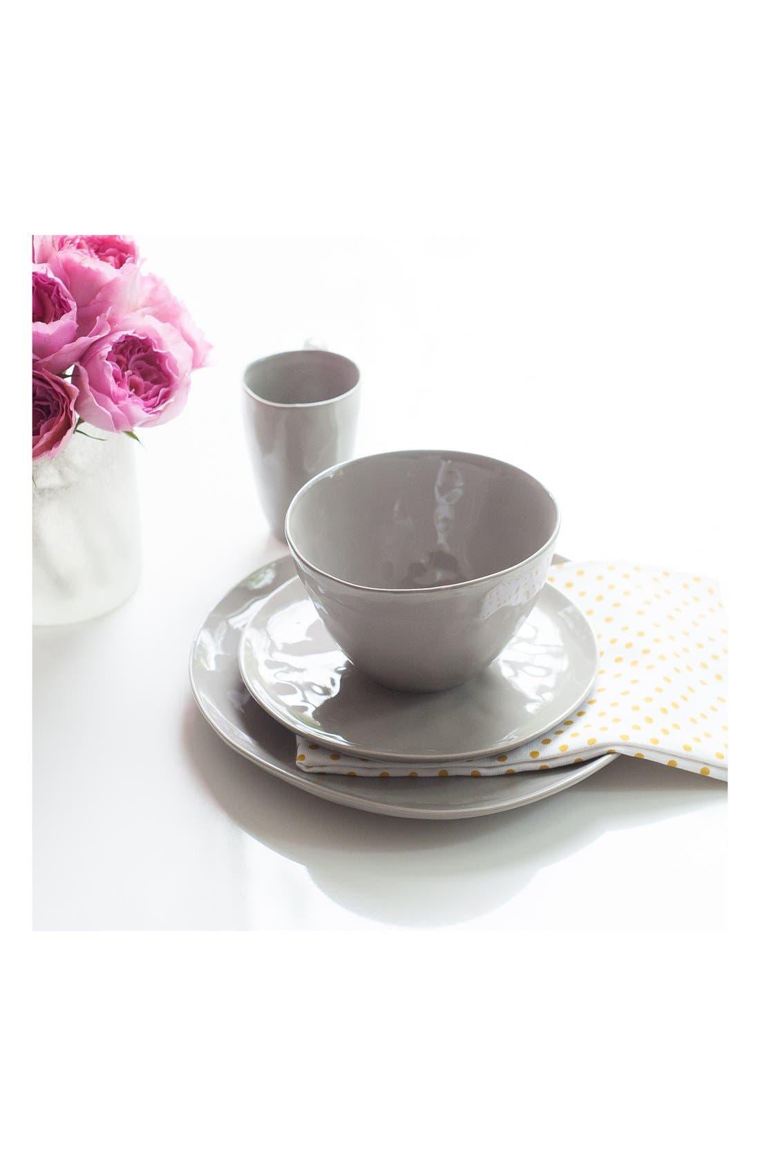 Sculptured Porcelain Coffee Mugs,                             Alternate thumbnail 2, color,                             Grey
