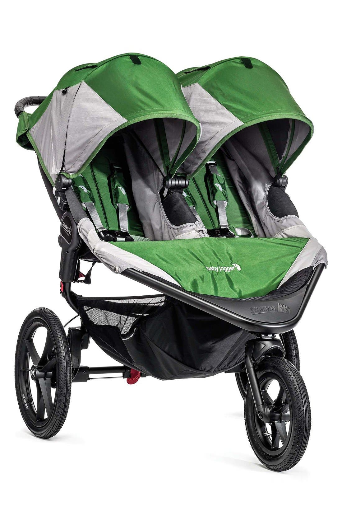 'Summit X3' Double Stroller,                             Main thumbnail 1, color,                             Green/ Grey