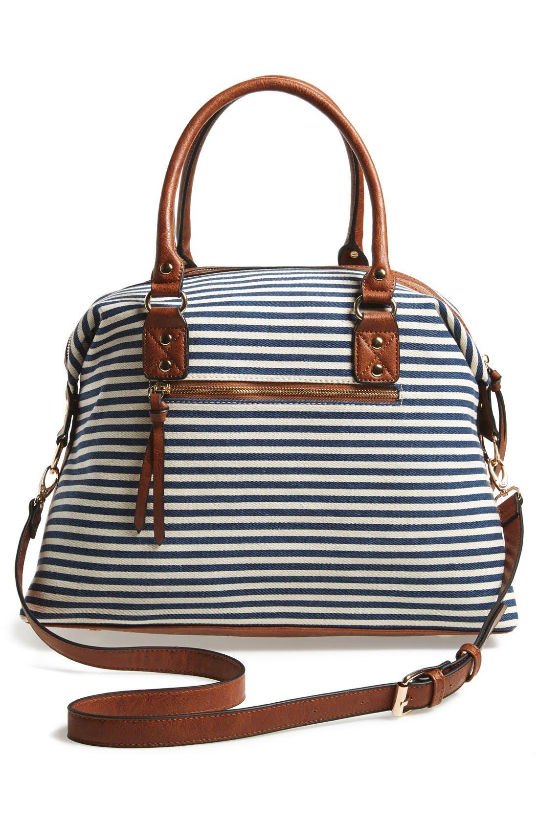 Alternate Image 3  - Sole Society 'Leighton' Stripe Duffel Bag