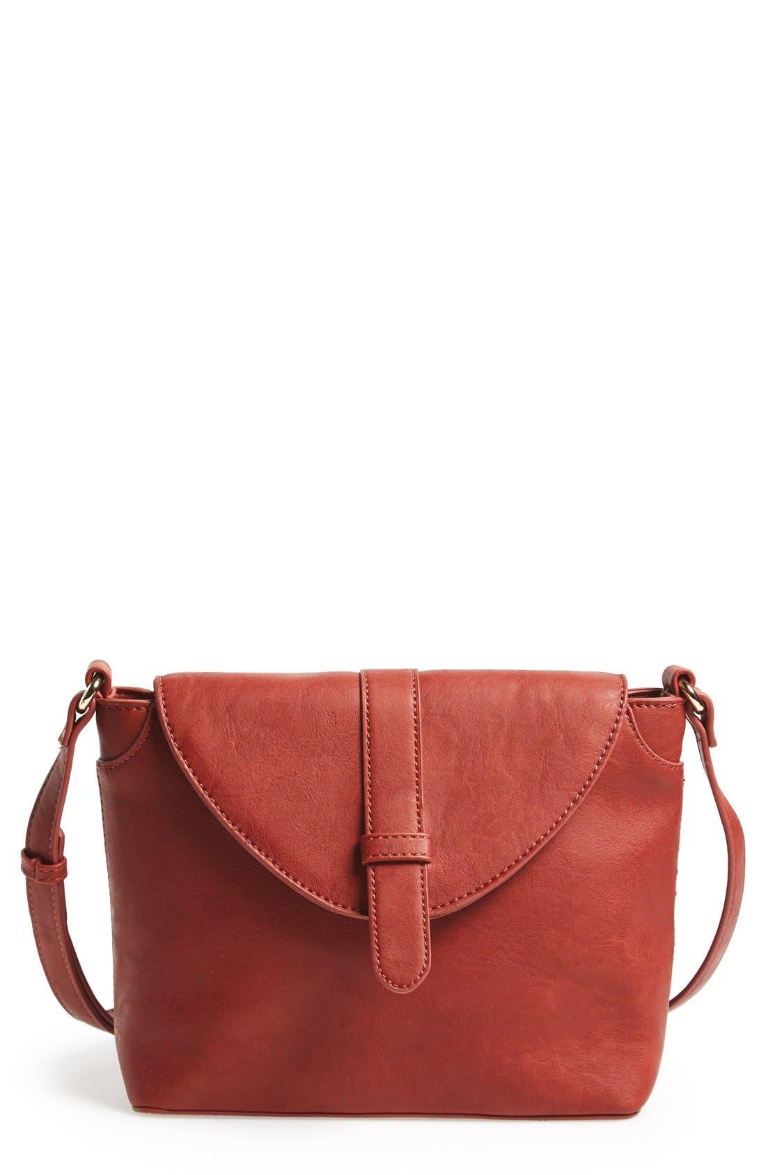 Main Image - Sole Society 'Brady' Faux Leather Crossbody Bag