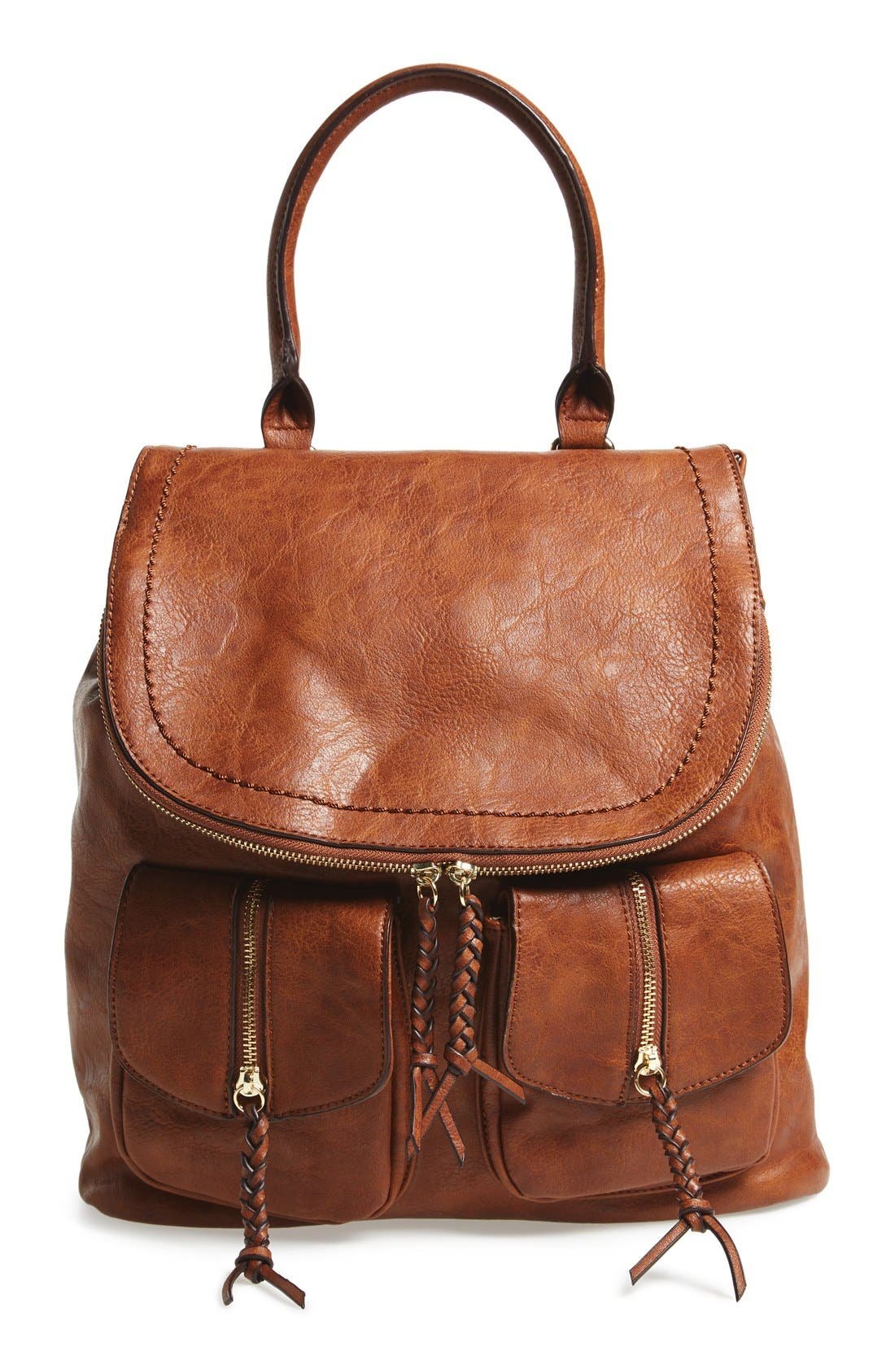 Alternate Image 1 Selected - Sole Society Emery Faux Leather Backpack