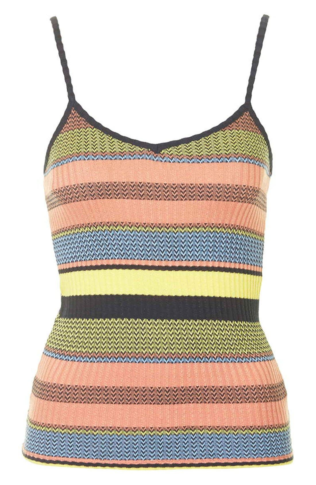 Alternate Image 4  - Topshop Chevron Stripe V-Neck Camisole