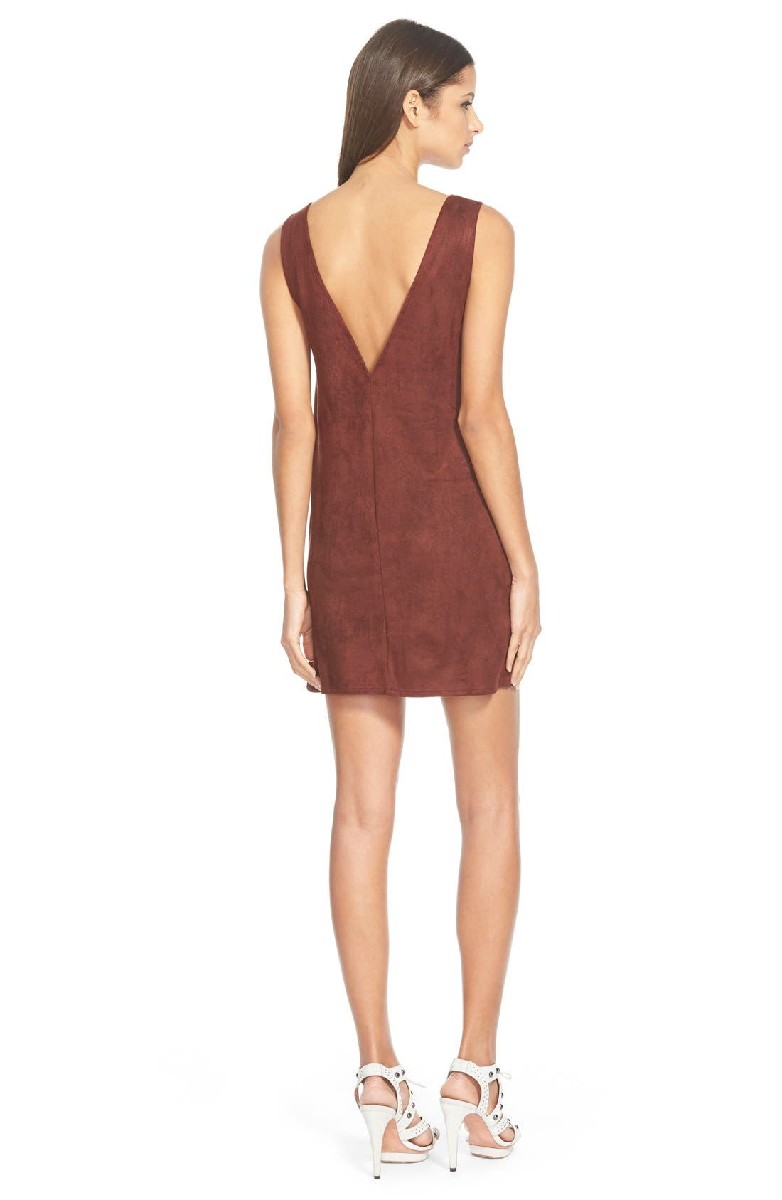 Alternate Image 2  - Missguided Faux Suede Minidress