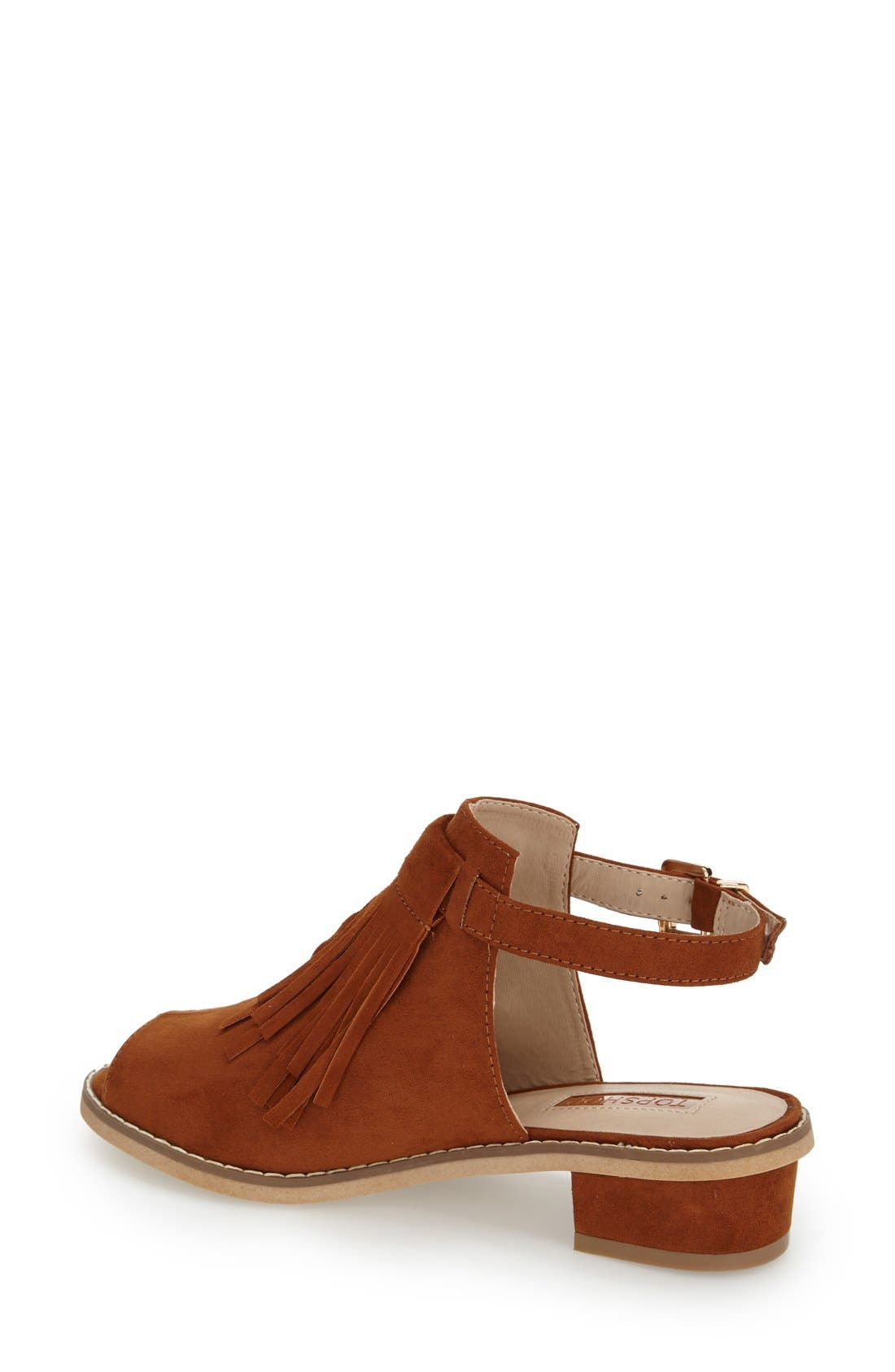 Alternate Image 2  - Topshop 'Blinder' Fringe Sandal (Women)