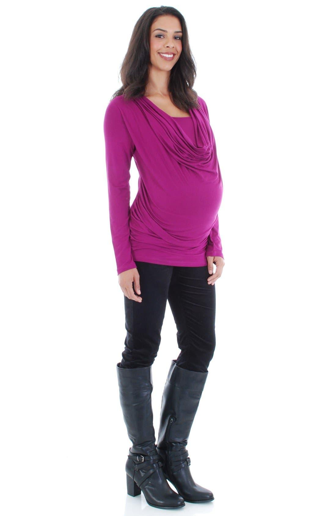 Main Image - EverlyGrey 'Kristina' Cowl Neck Maternity/Nursing Top