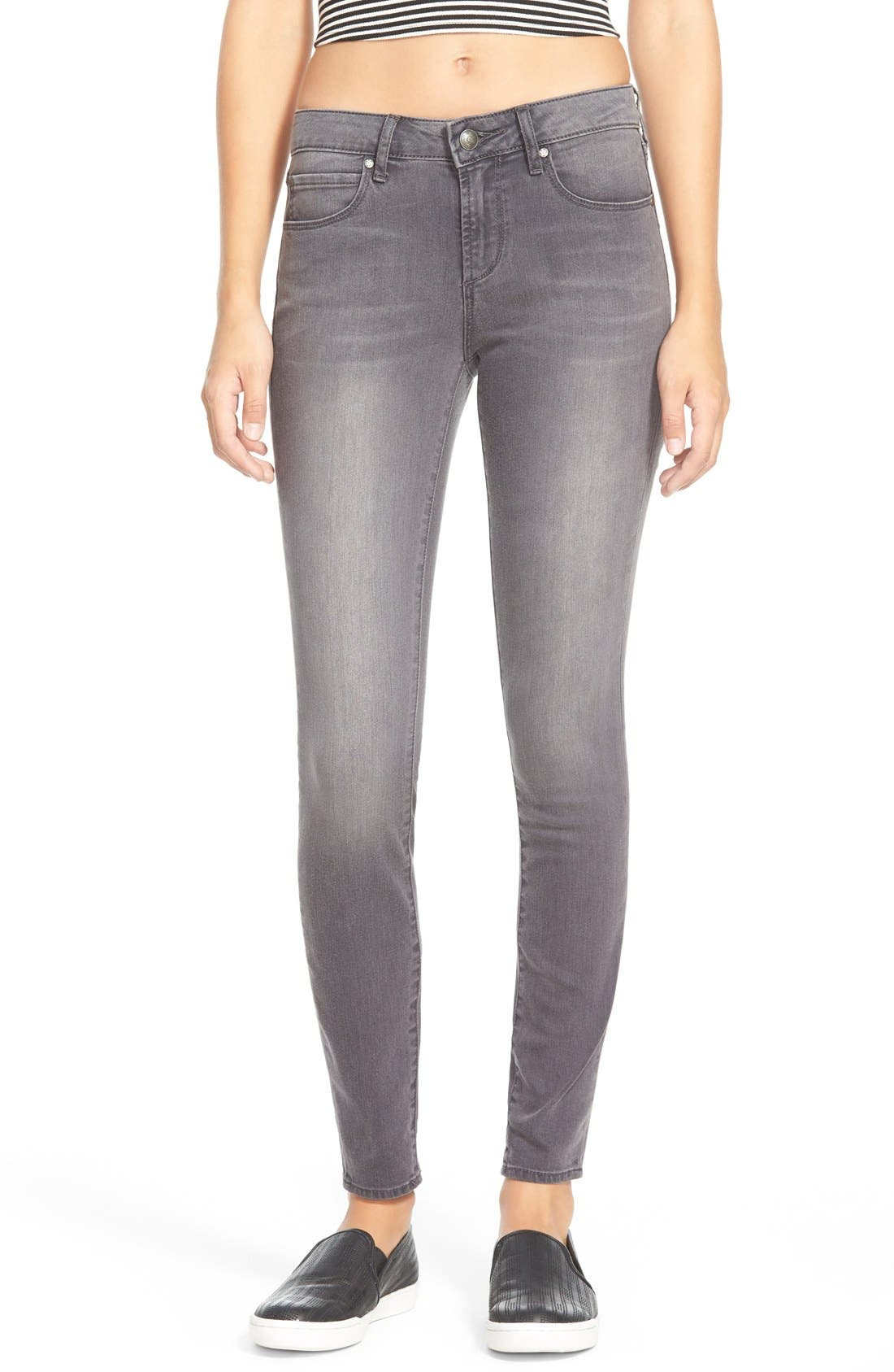 Main Image - Articles of Society 'Sarah' Skinny Jeans (Greyhound)