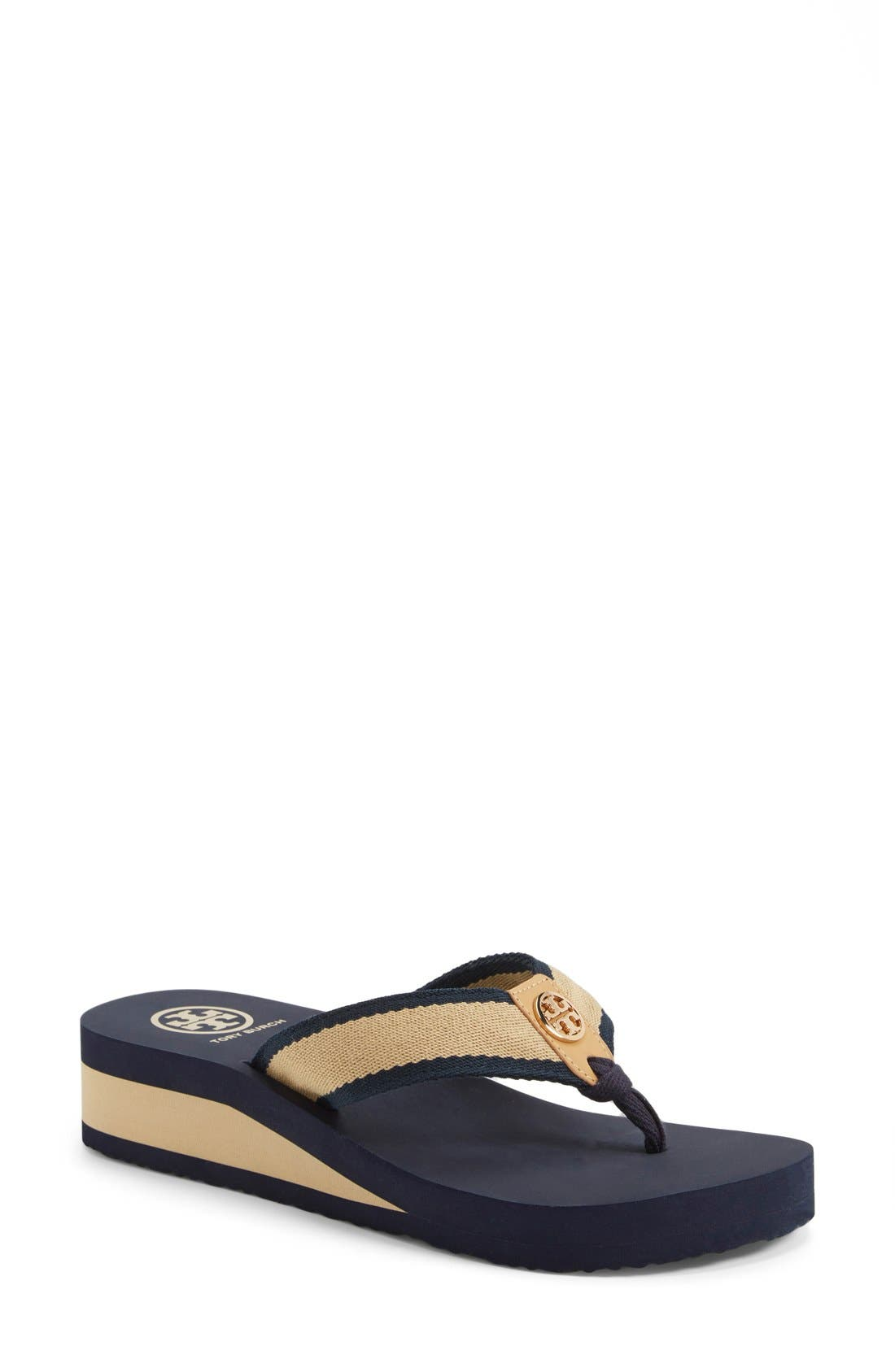 Main Image - Tory Burch 'Frankie' Wedge Sandal (Women) (Nordstrom Exclusive)
