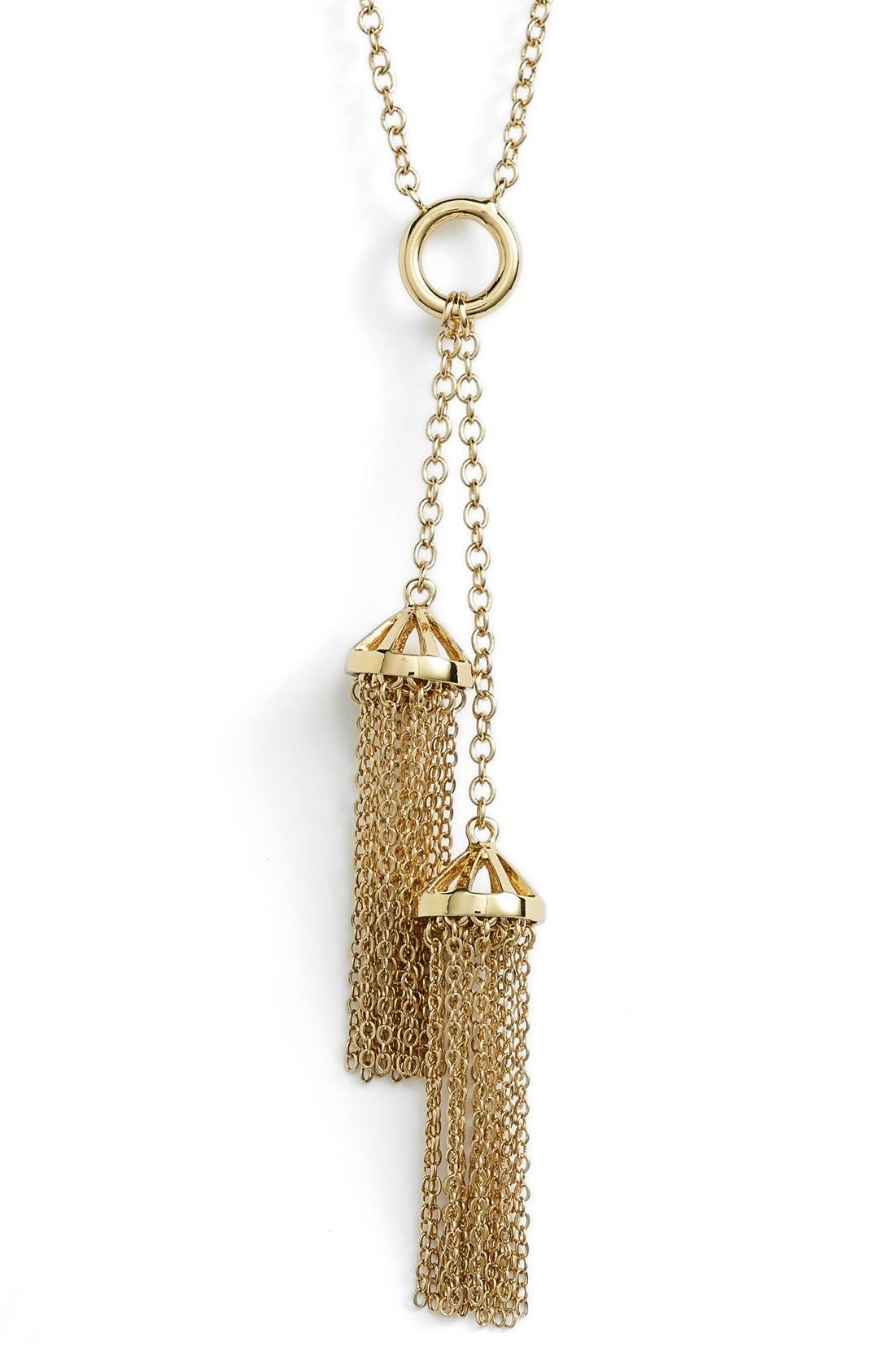 Alternate Image 2  - Rebecca Minkoff Double Tassel Pendant Necklace
