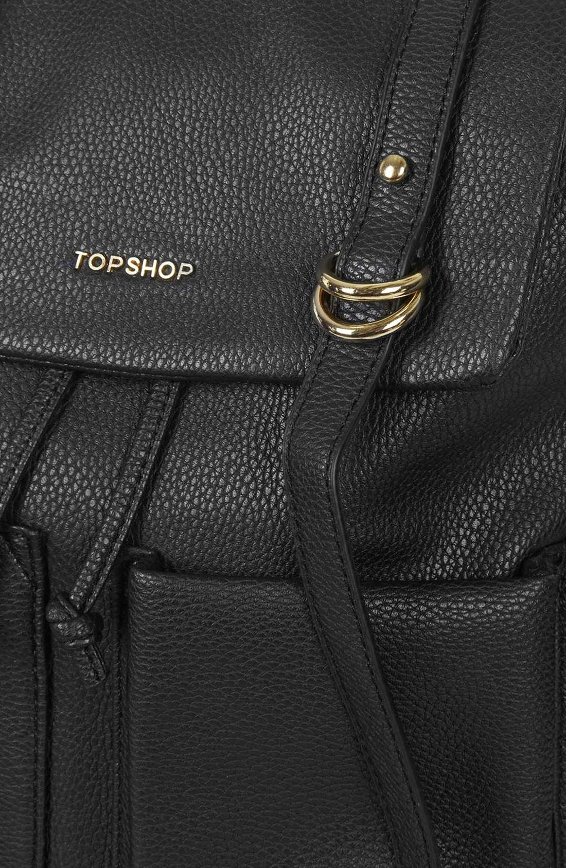Alternate Image 5  - Topshop 'Edinburgh' Faux Leather Backpack