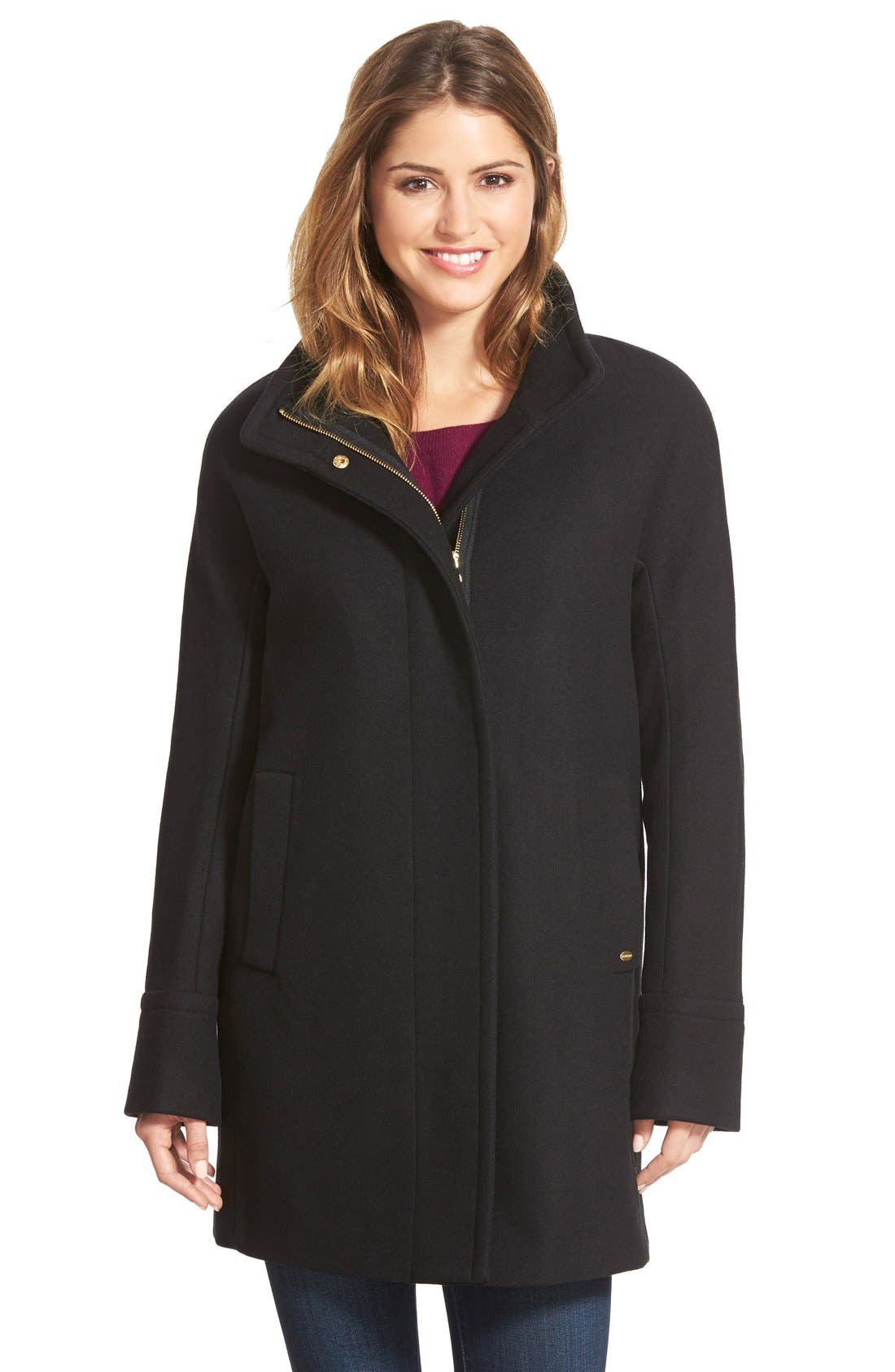 Ellen Tracy Wool Blend Stadium Coat (Regular & Petite)
