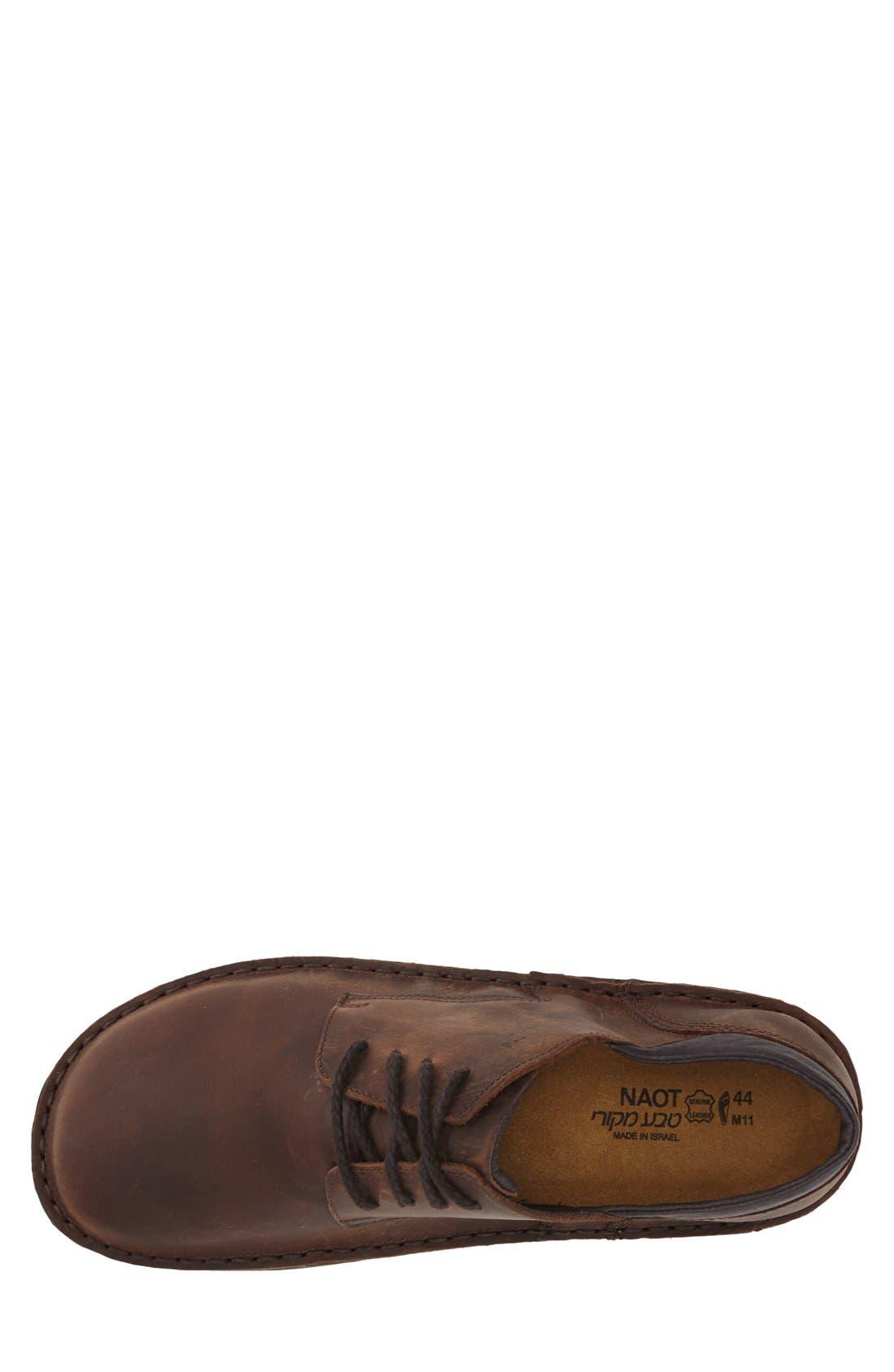 Denali Plain Toe Derby,                             Alternate thumbnail 3, color,                             Brown Leather