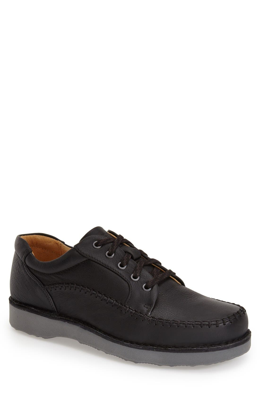 'Get-Up' Moc Toe Derby,                             Main thumbnail 1, color,                             Black Leather