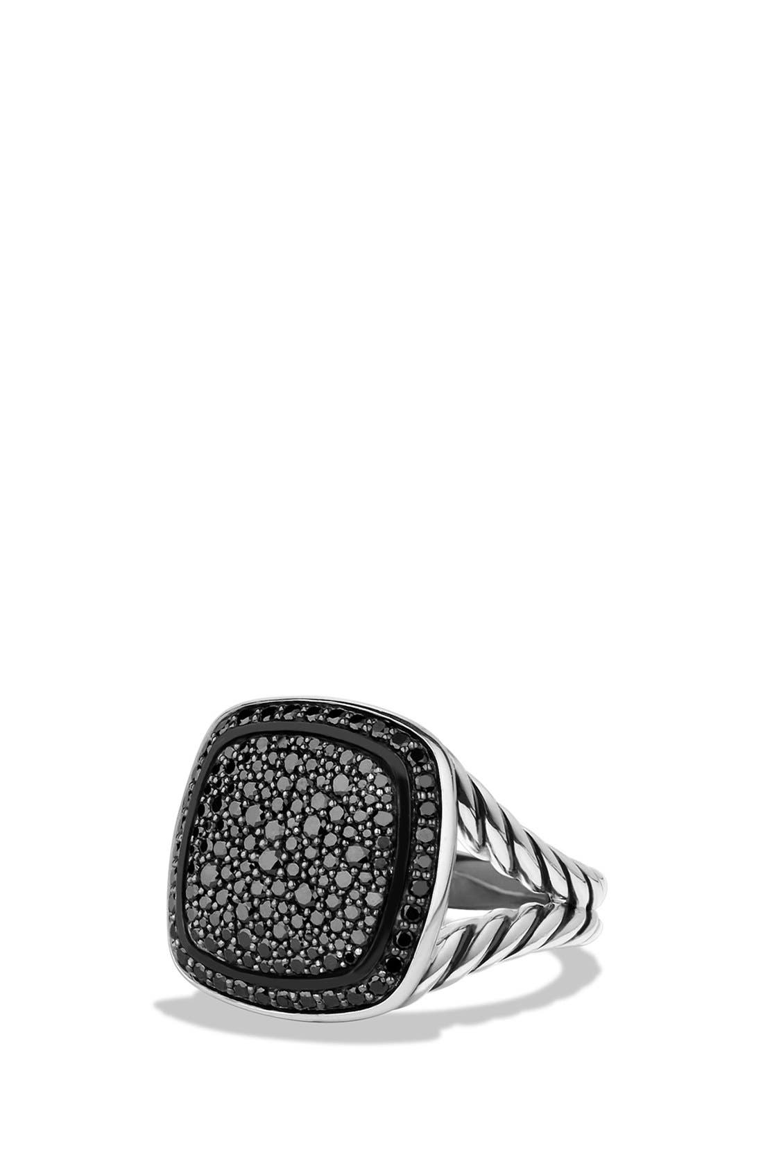 'Albion' Ring with Diamonds,                             Main thumbnail 1, color,                             Black Diamond