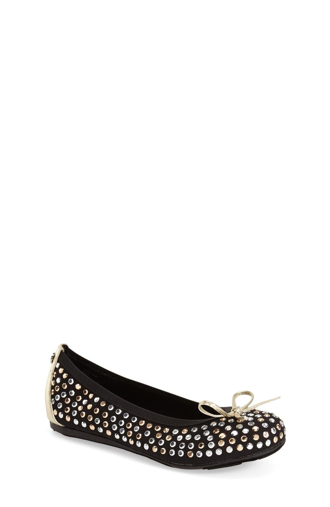 Stuart Weitzman 'Fannie Tara' Ballerina Flat (Little Kid & Big Kid)