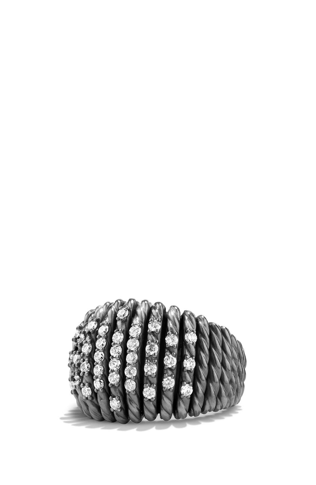 Alternate Image 1 Selected - David Yurman 'Tempo' Ring with Diamonds