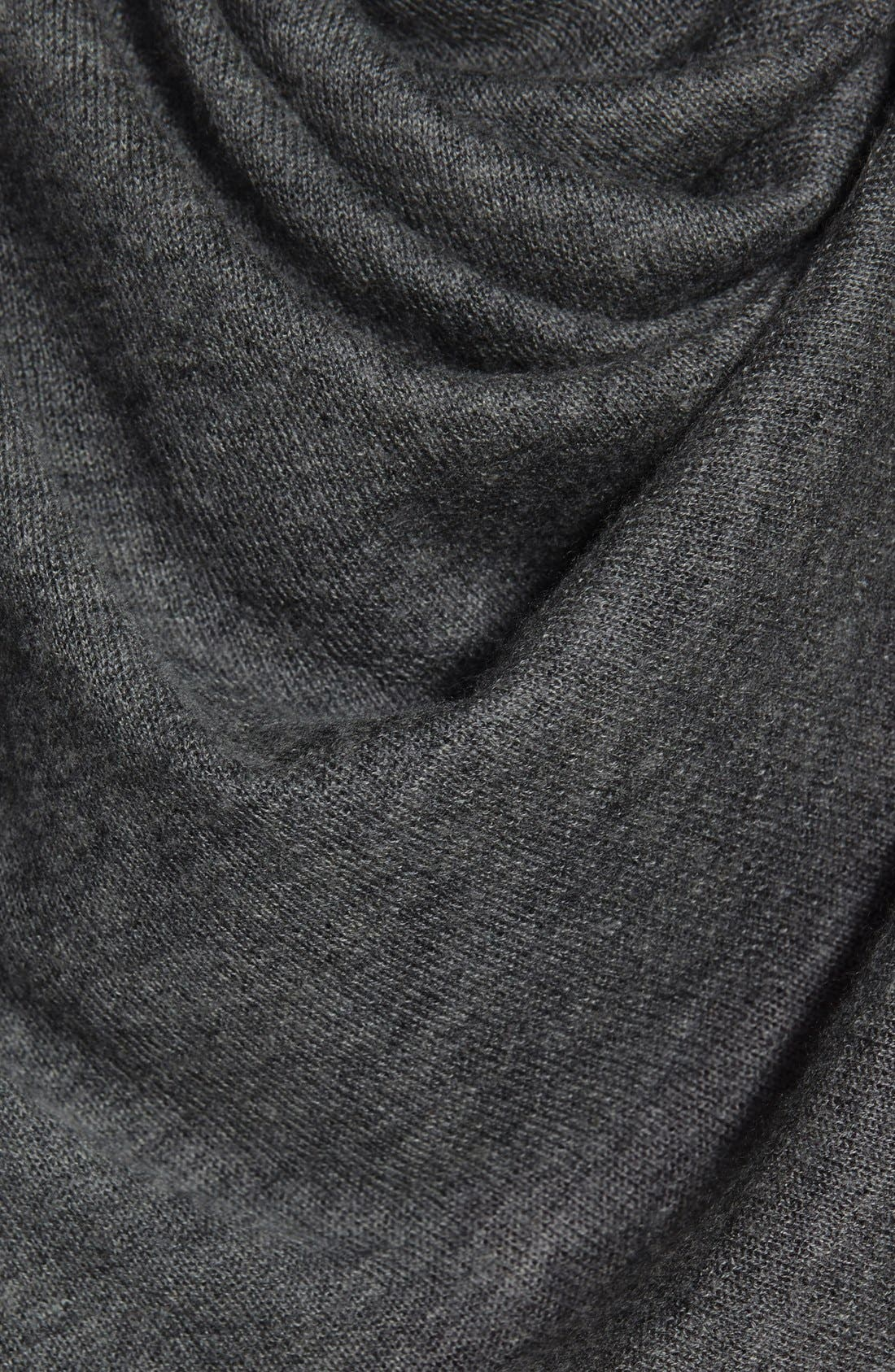 Oversize Cashmere Scarf,                             Alternate thumbnail 2, color,                             Heather Charcoal