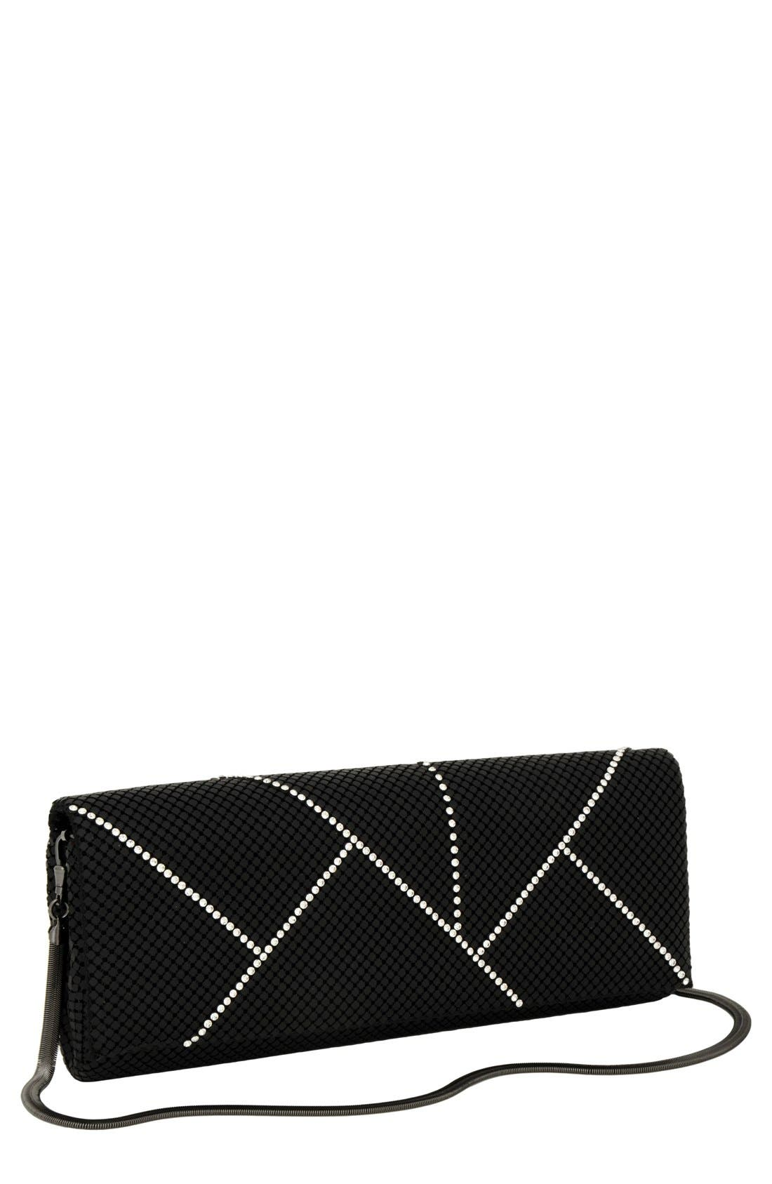 Main Image - Whiting & Davis 'Crystal Segments' Flap Clutch