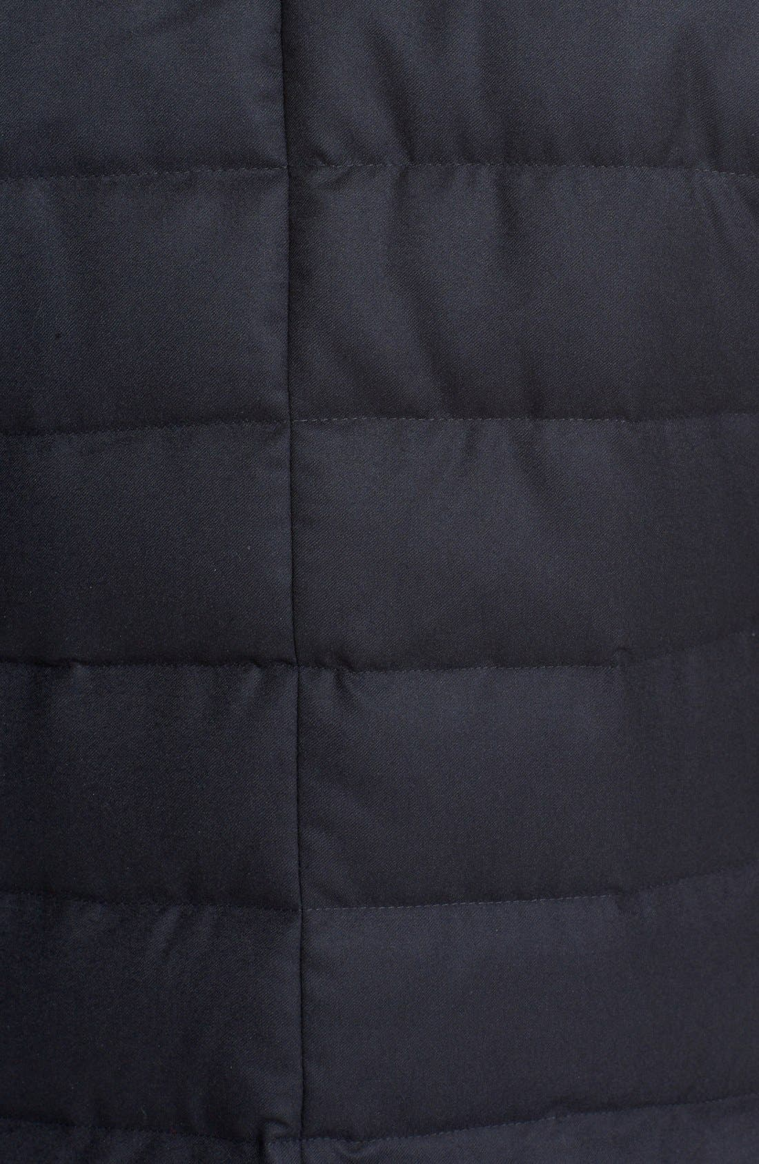 'Rodin' Quilted Down Sport Coat,                             Alternate thumbnail 3, color,                             Navy