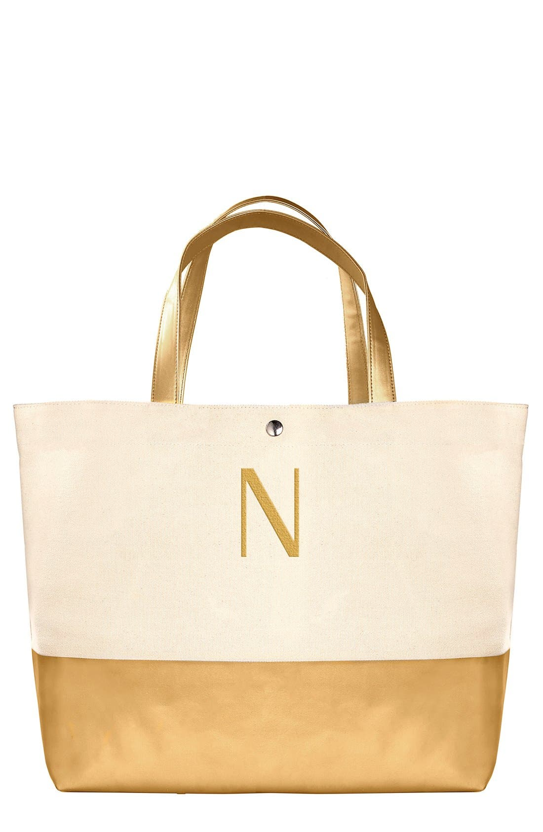 CATHYS CONCEPTS Monogram Canvas Tote