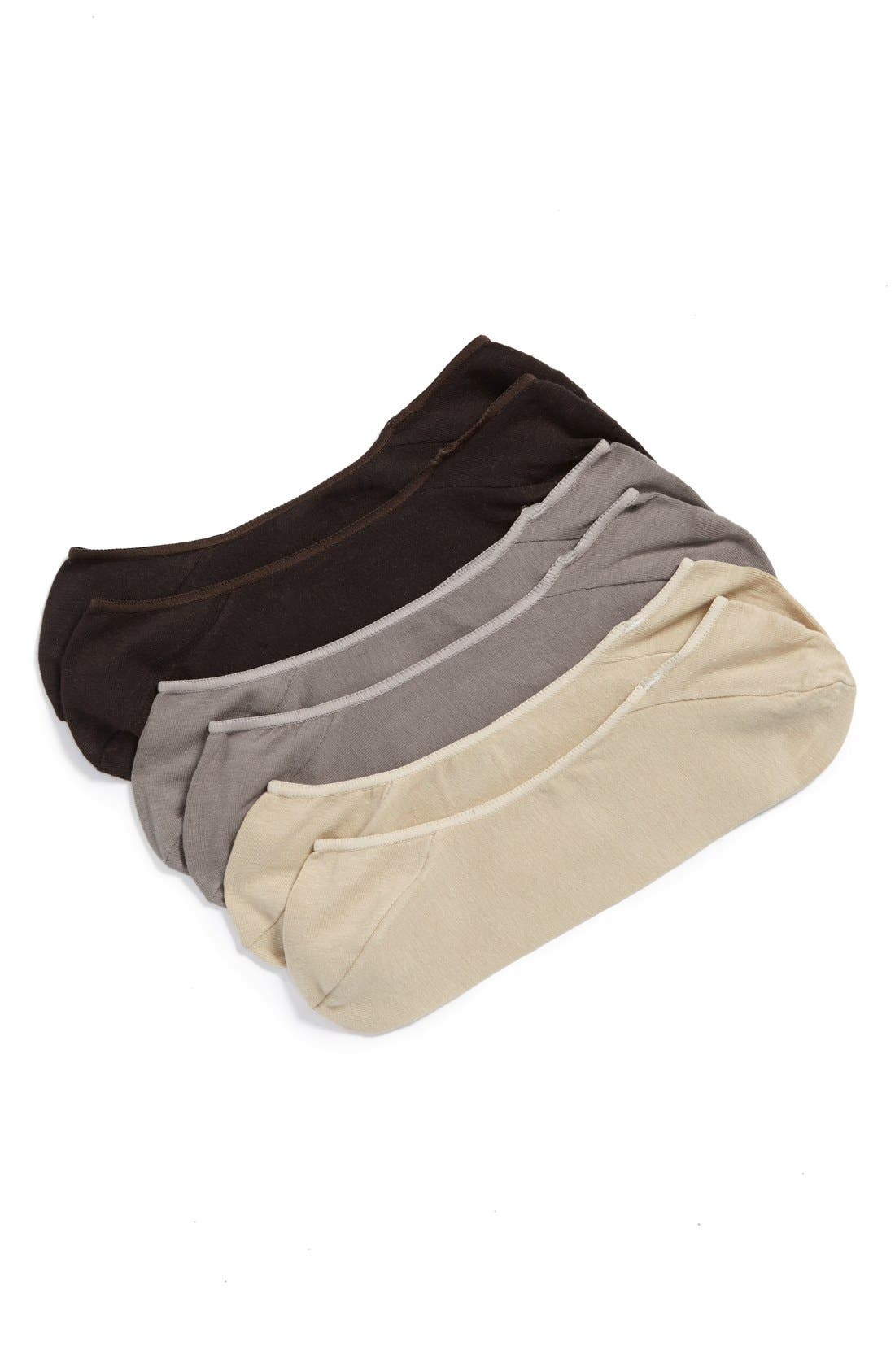 Main Image - Calvin Klein 3-Pack No-Show Socks