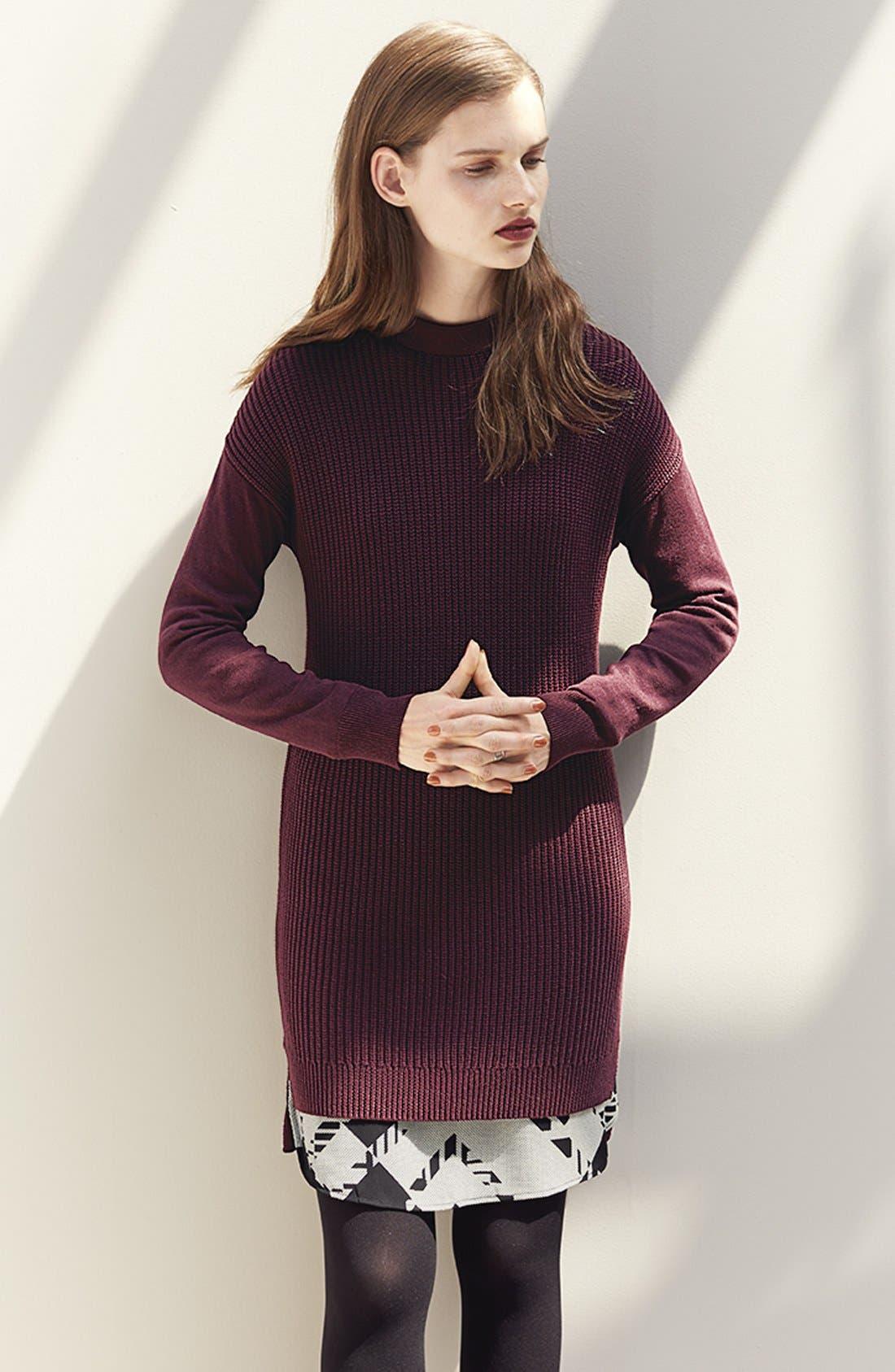 Alternate Image 6  - Halogen® Stitch Detail Knit Tunic (Regular & Petite)