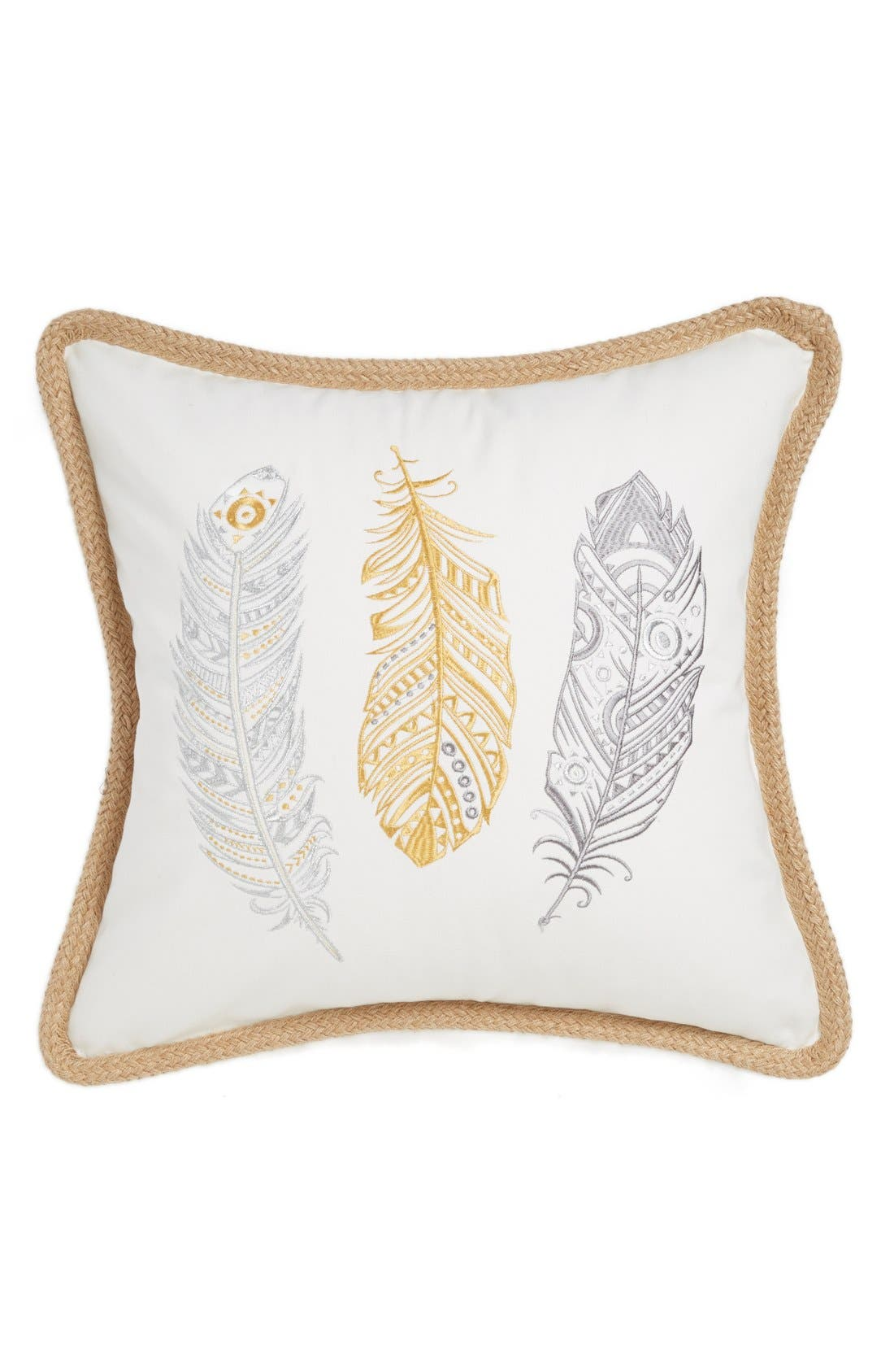 Alternate Image 1 Selected - Levtex Feather Embroidered Pillow