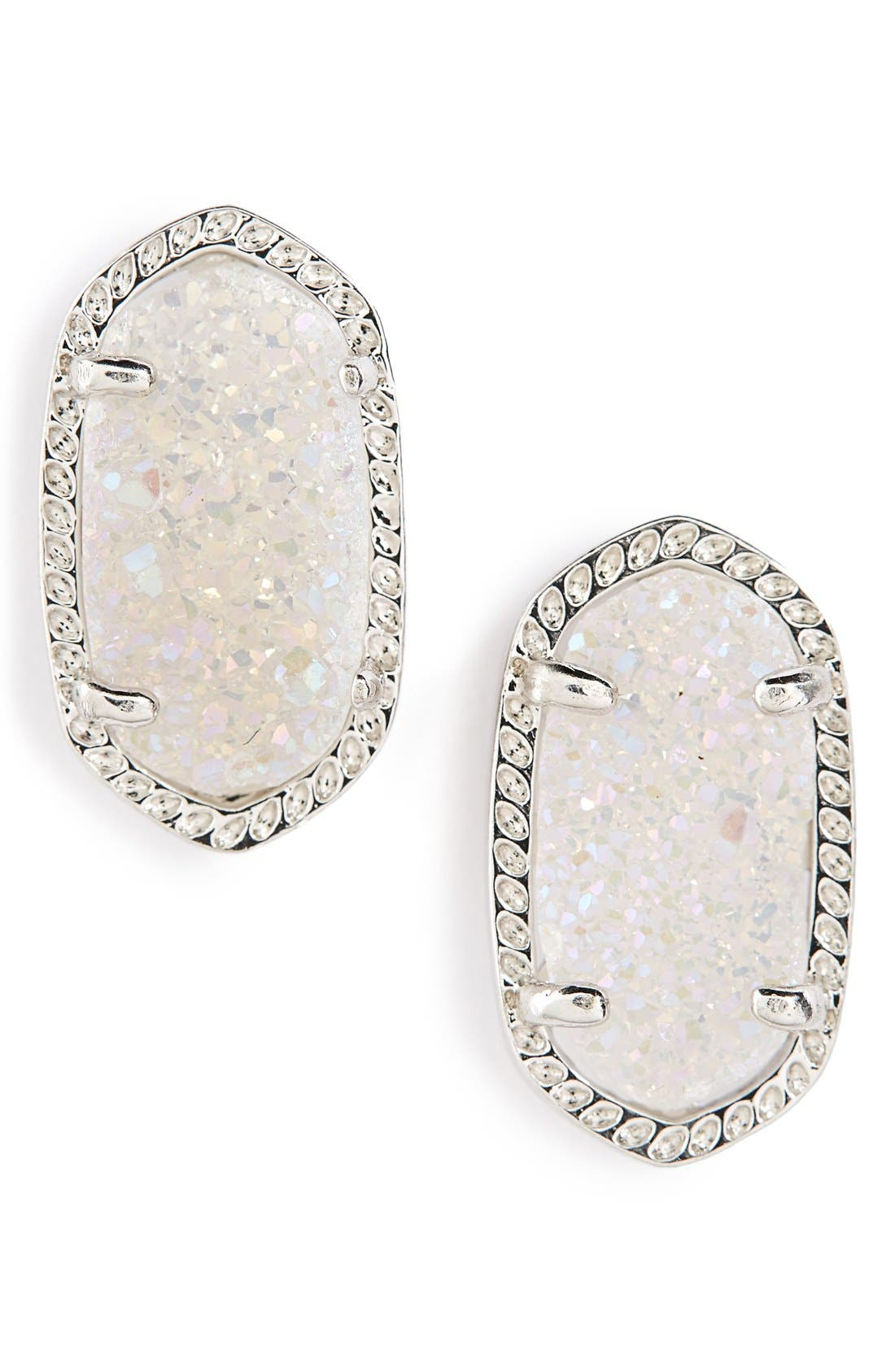 KENDRA SCOTT Ellie Oval Stone Stud Earrings