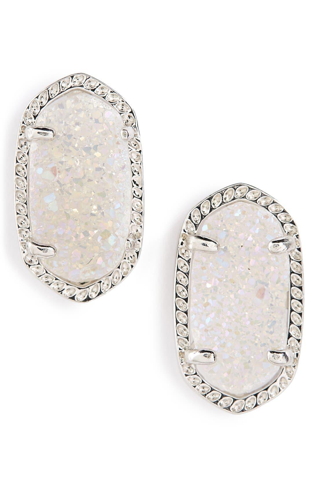 Alternate Image 1 Selected - Kendra Scott Ellie Oval Stone Stud Earrings