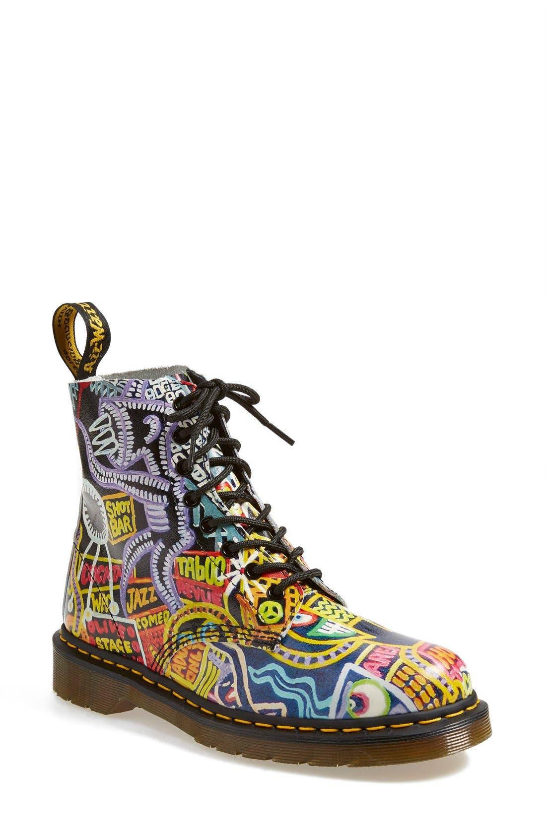Alternate Image 1 Selected - Dr. Martens 'Pascal' MultiKaboom Print Boot (Women)